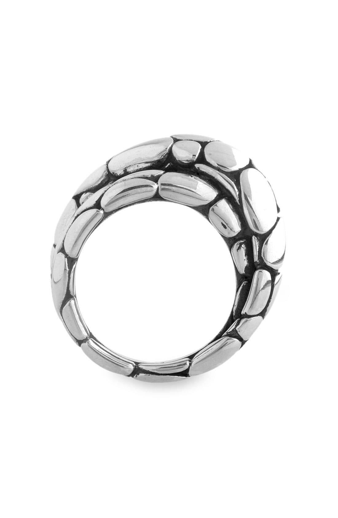 'Kali' Silver Twist Ring,                             Alternate thumbnail 3, color,                             SIL