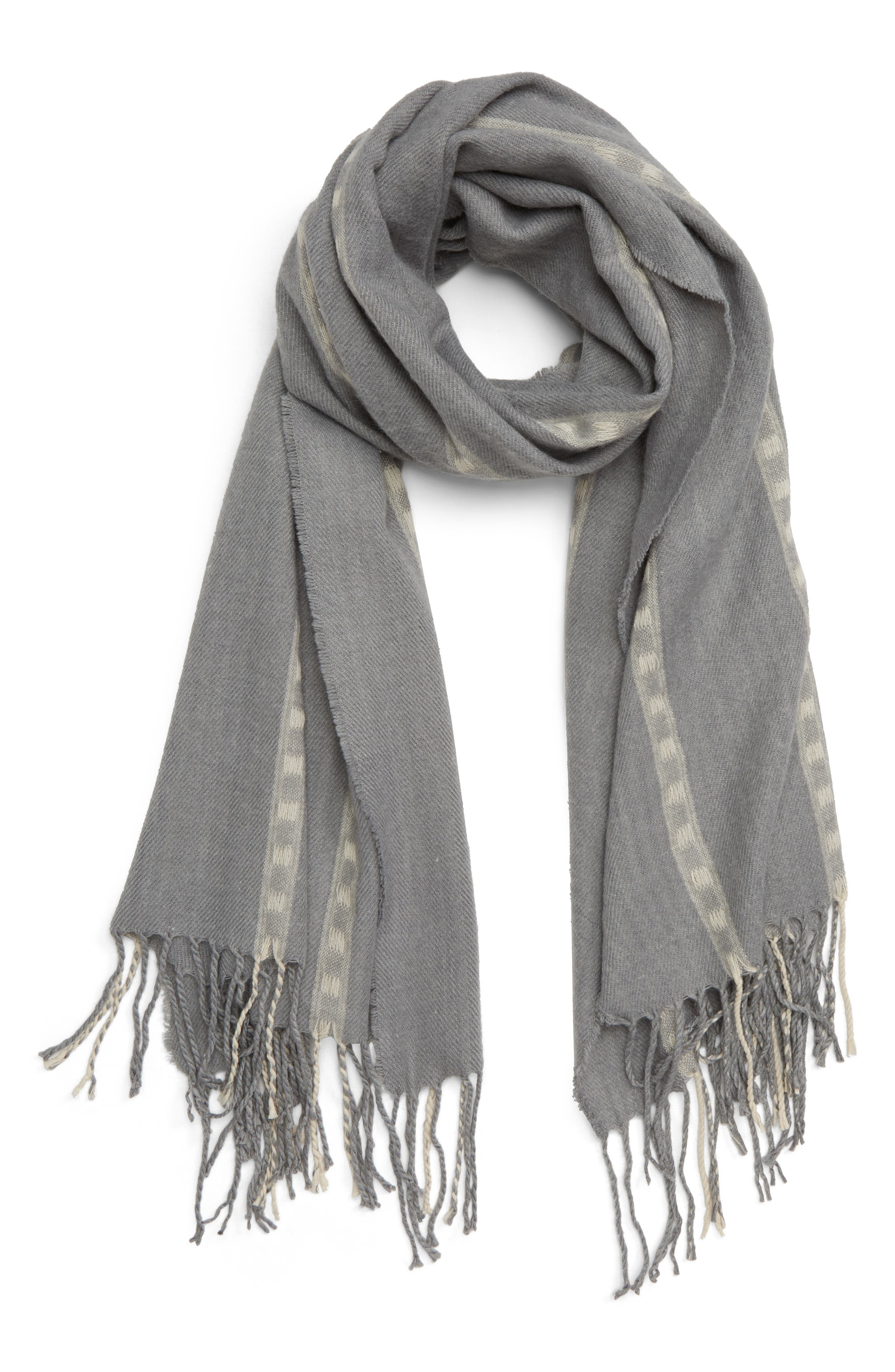 Stripe Scarf,                             Main thumbnail 1, color,                             020