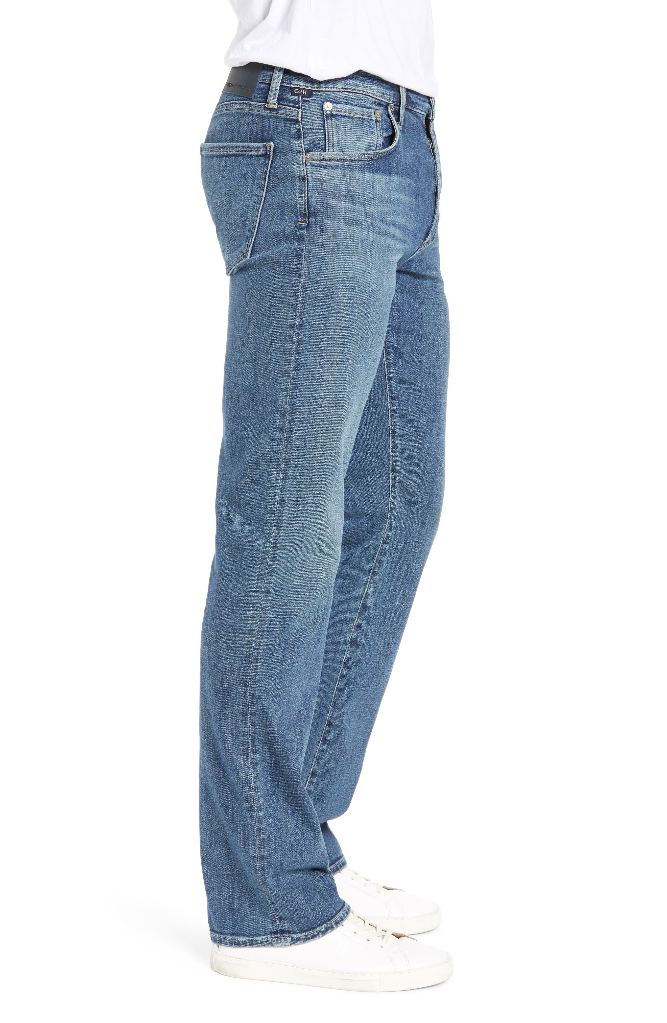 Sid Straight Leg Jeans,                             Alternate thumbnail 3, color,                             AURORA