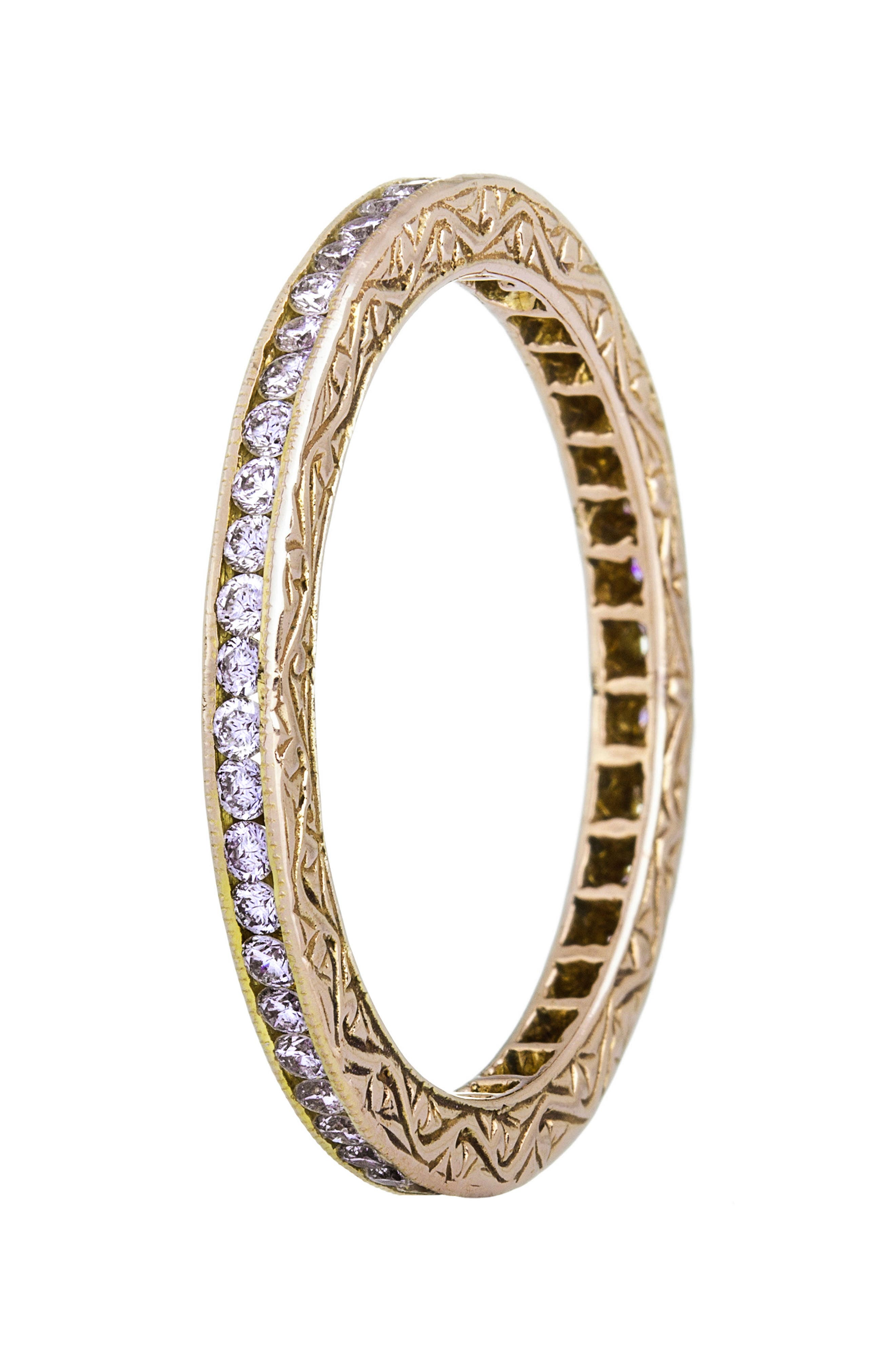 SETHI COUTURE Channel Set Diamond Band Ring in Gold