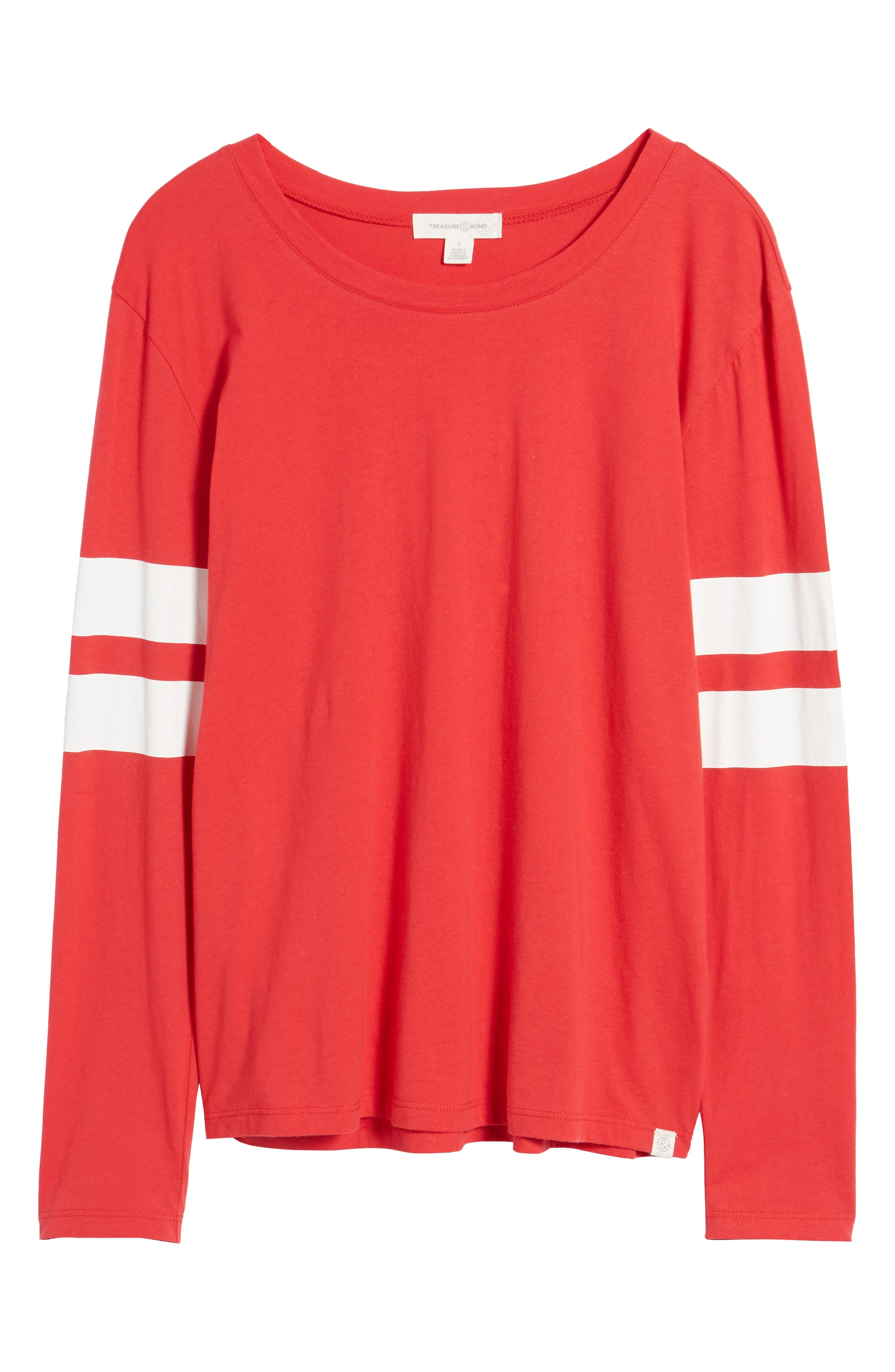 Varsity Stripe Cotton Tee,                             Alternate thumbnail 119, color,