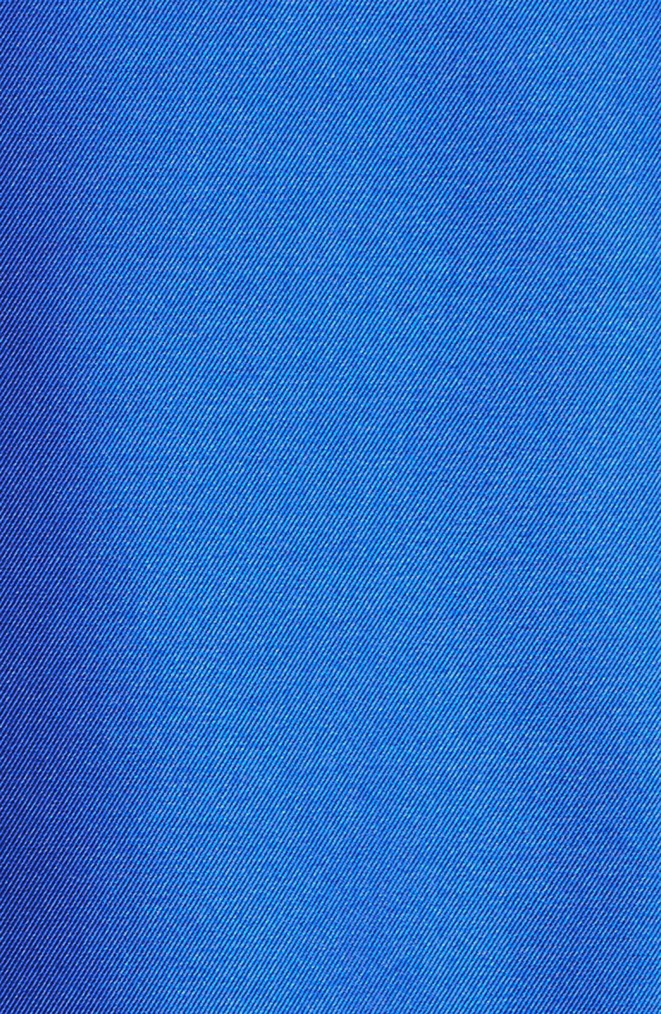 Lace Trim Mikado High/Low Gown,                             Alternate thumbnail 5, color,                             401