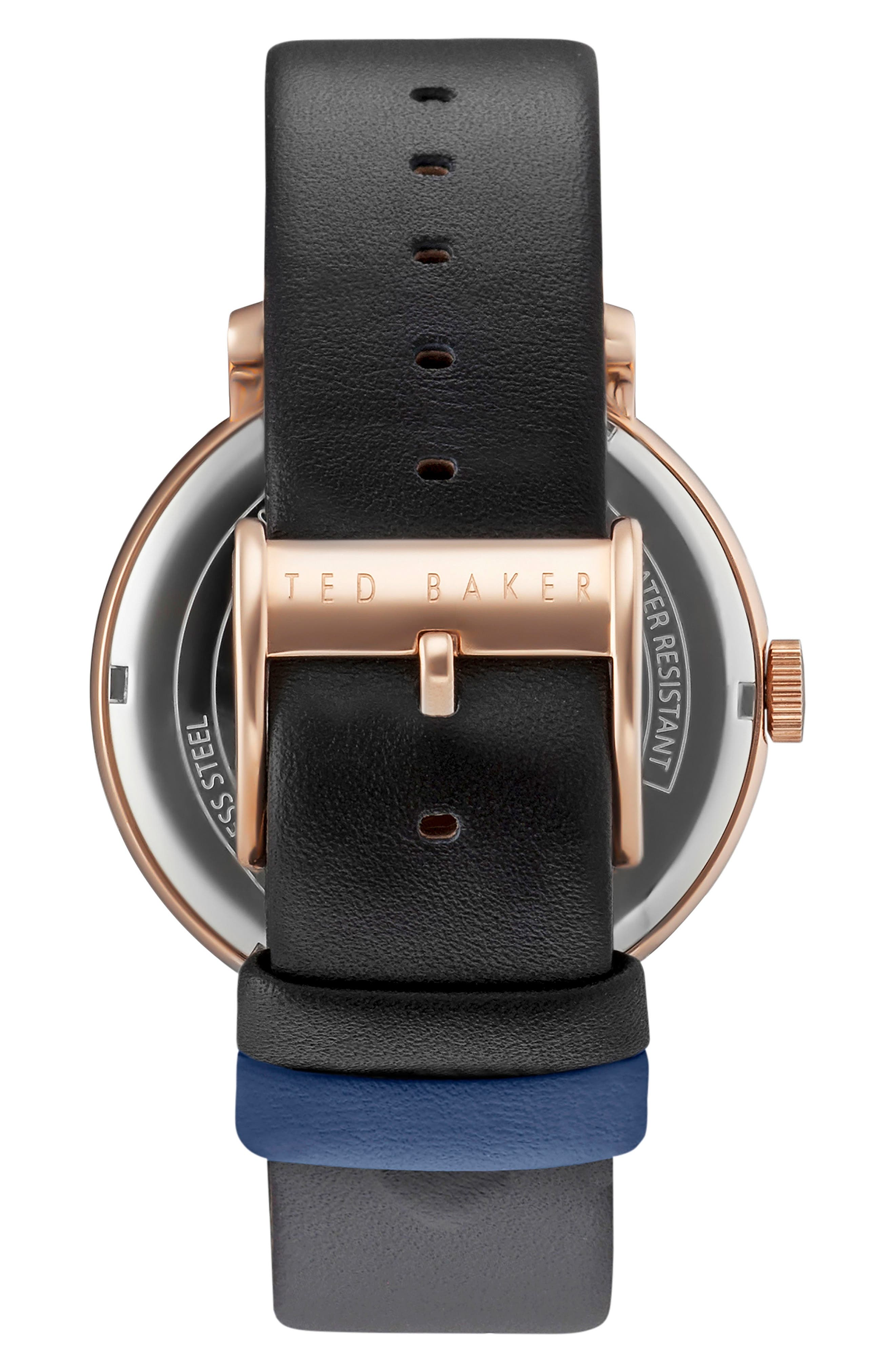 Oliver Leather Strap Watch, 42mm,                             Alternate thumbnail 2, color,                             001