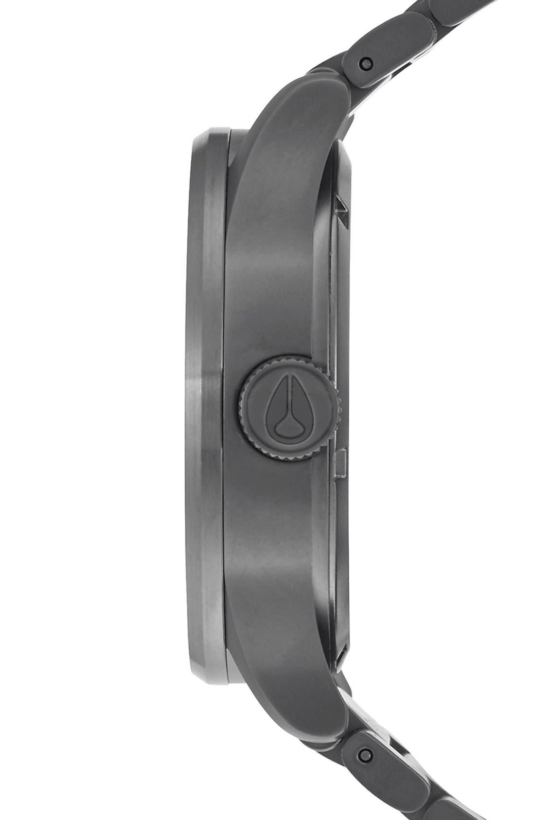 Sentry Bracelet Watch, 42mm,                             Alternate thumbnail 2, color,                             GUNMETAL/ DEEP BURGUNDY