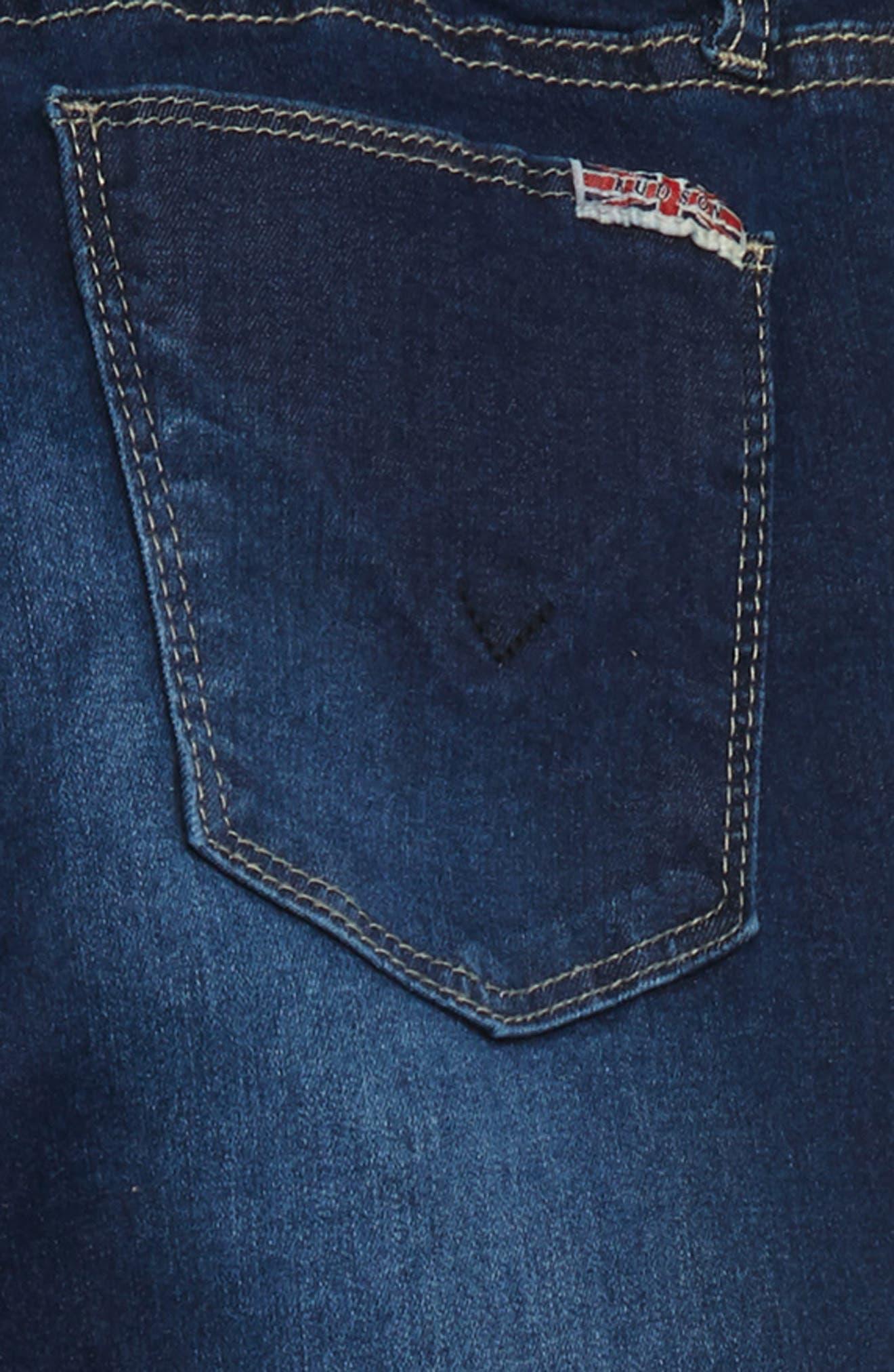 Christa Release Hem Skinny Jeans,                             Alternate thumbnail 3, color,                             GLEAM WASH