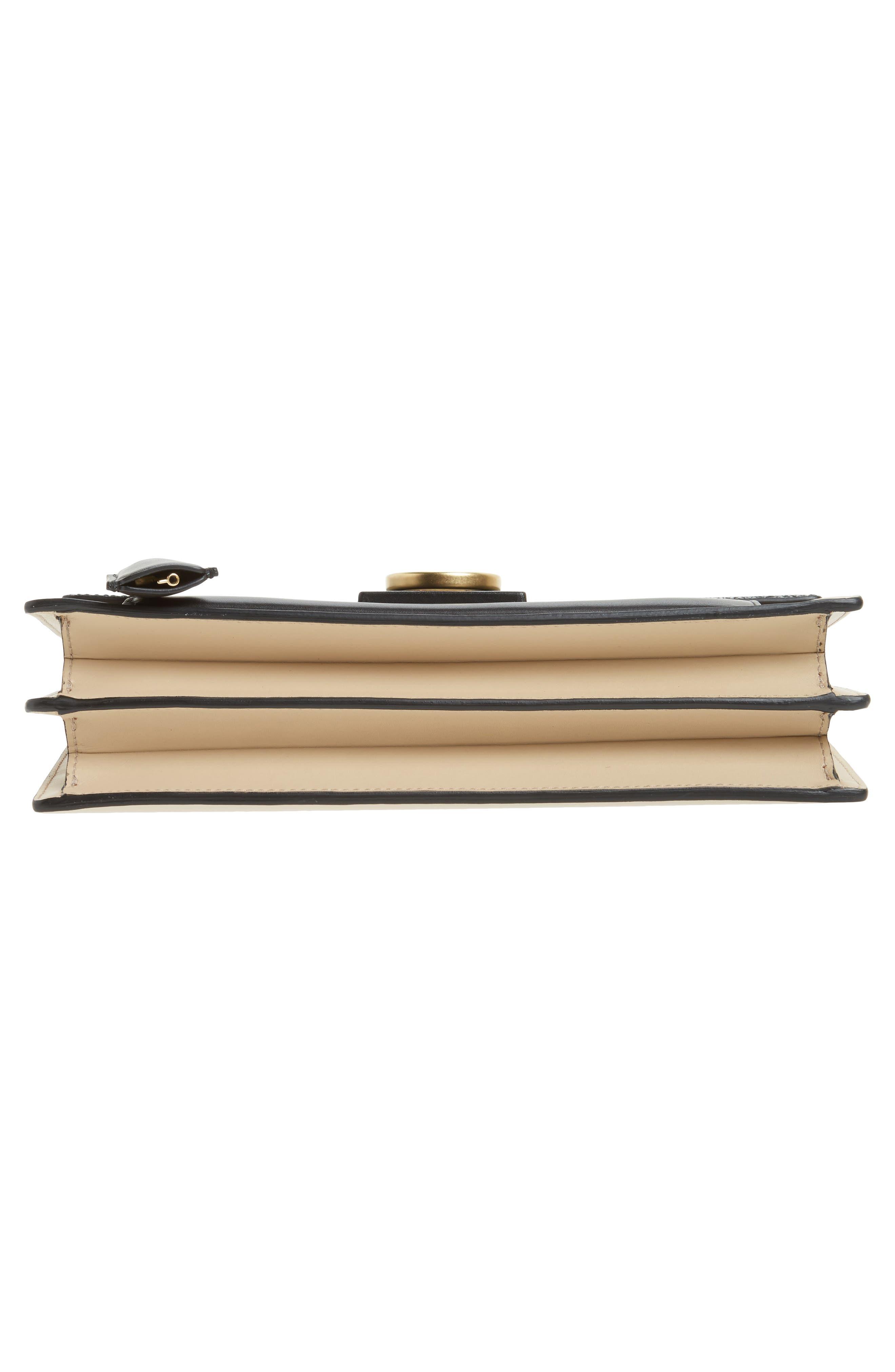 SALVATORE FERRAGAMO,                             Stingray Leather Shoulder Bag,                             Alternate thumbnail 6, color,                             974