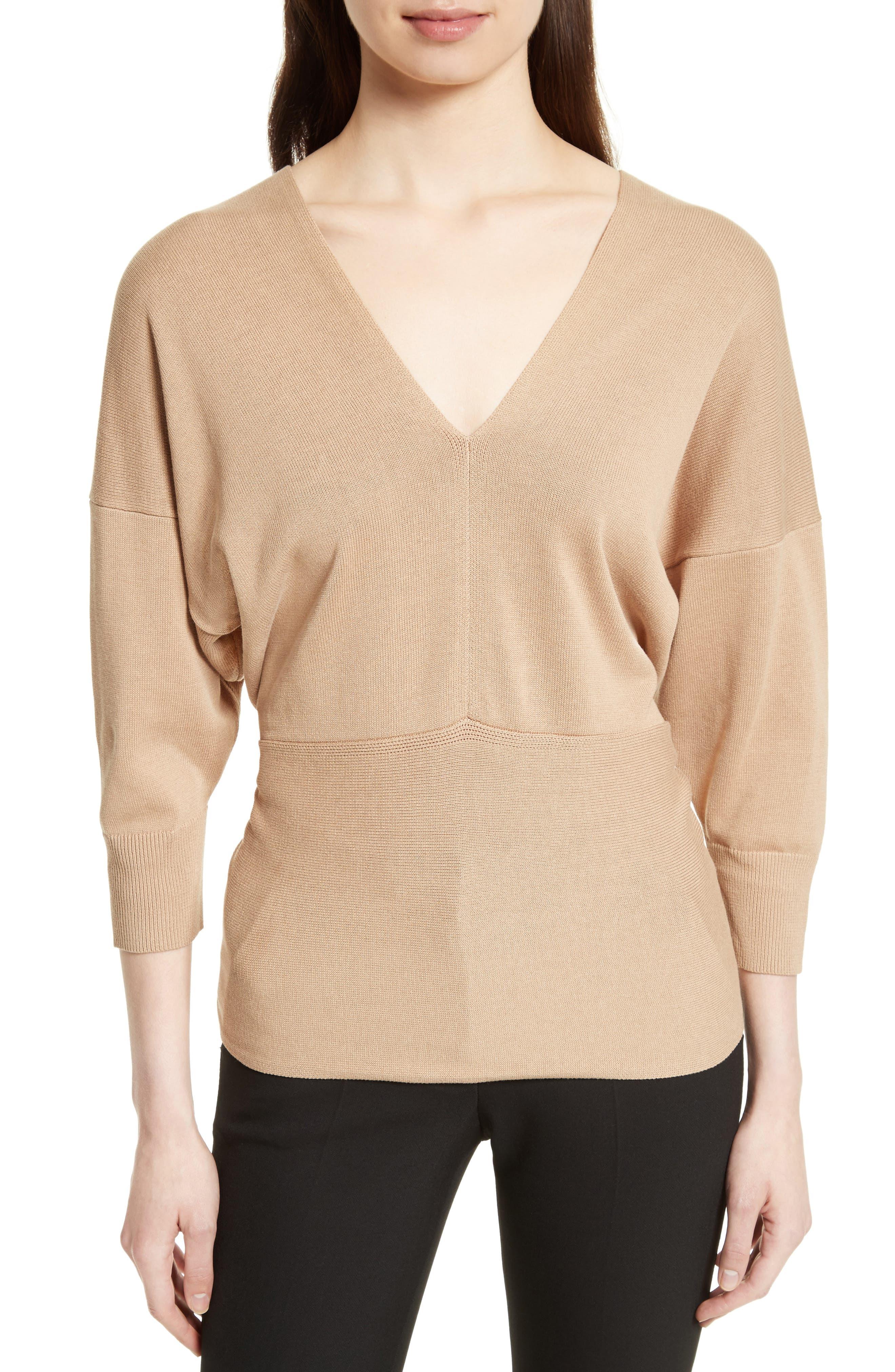 Tie Detail V-Neck Sweater,                         Main,                         color, 250