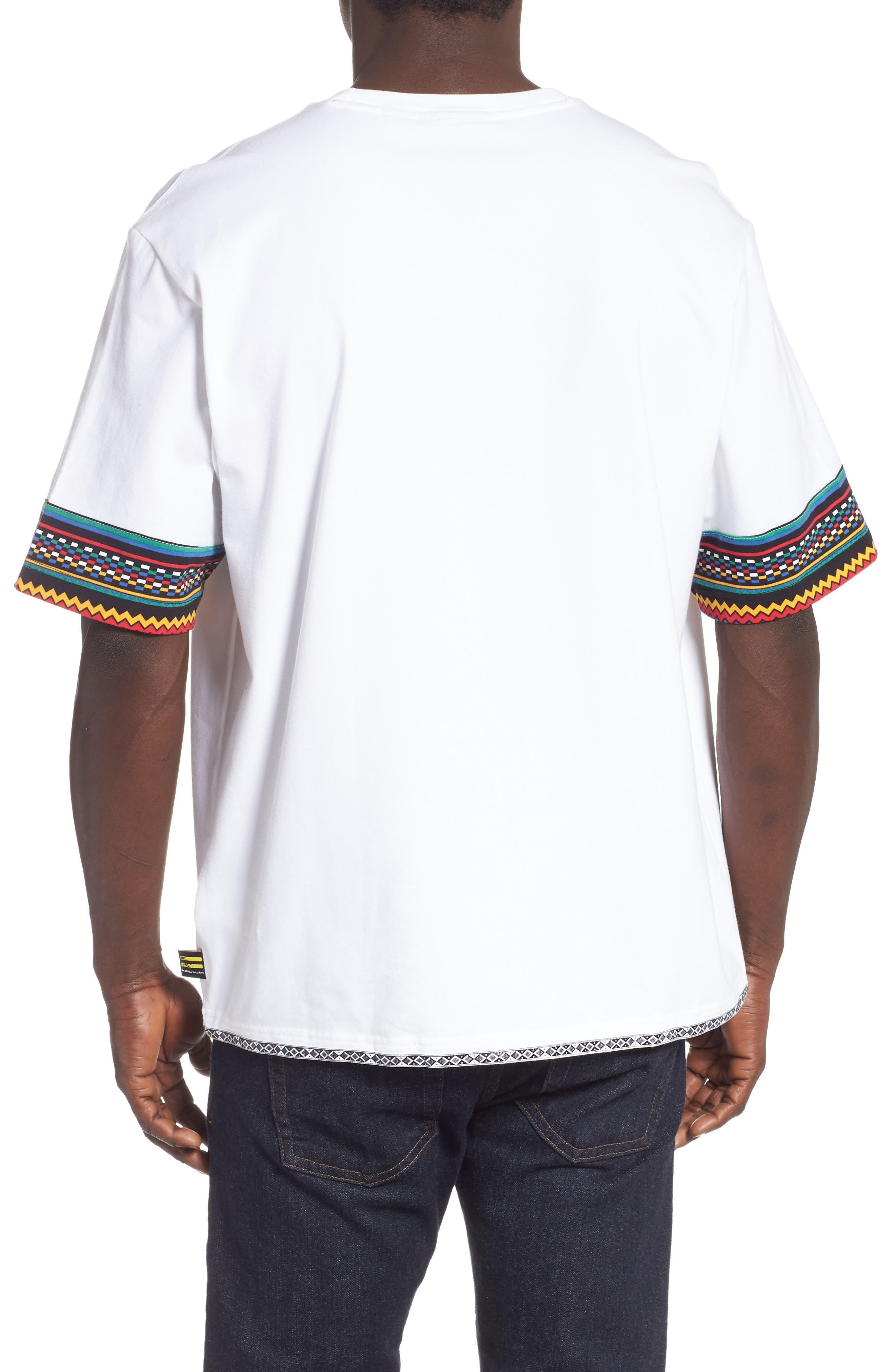 by Pharrell Williams Hu Solar Trefoil T-Shirt,                             Alternate thumbnail 2, color,                             100