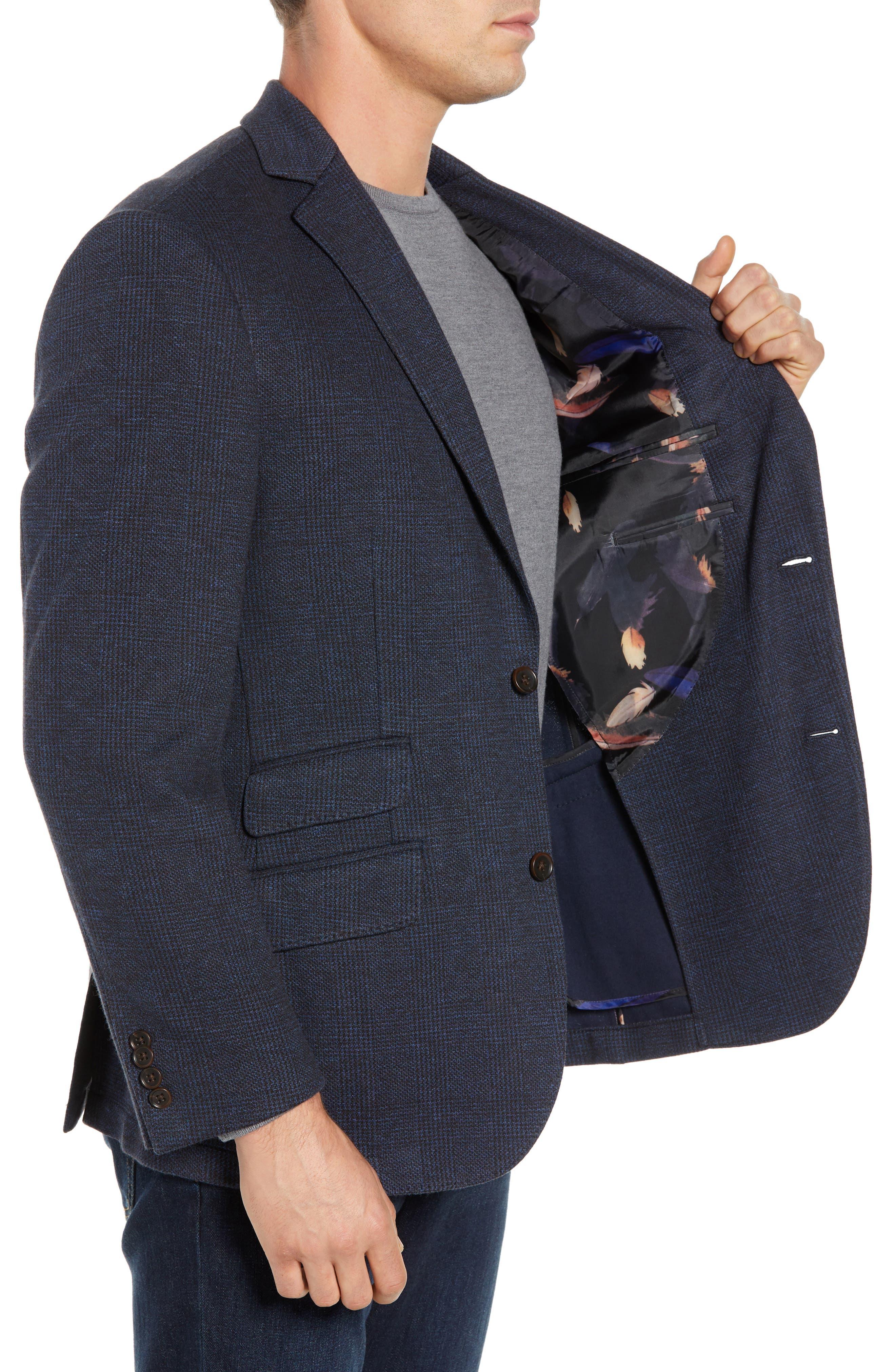 Regular Fit Knit Sport Coat,                             Alternate thumbnail 3, color,                             BROWN