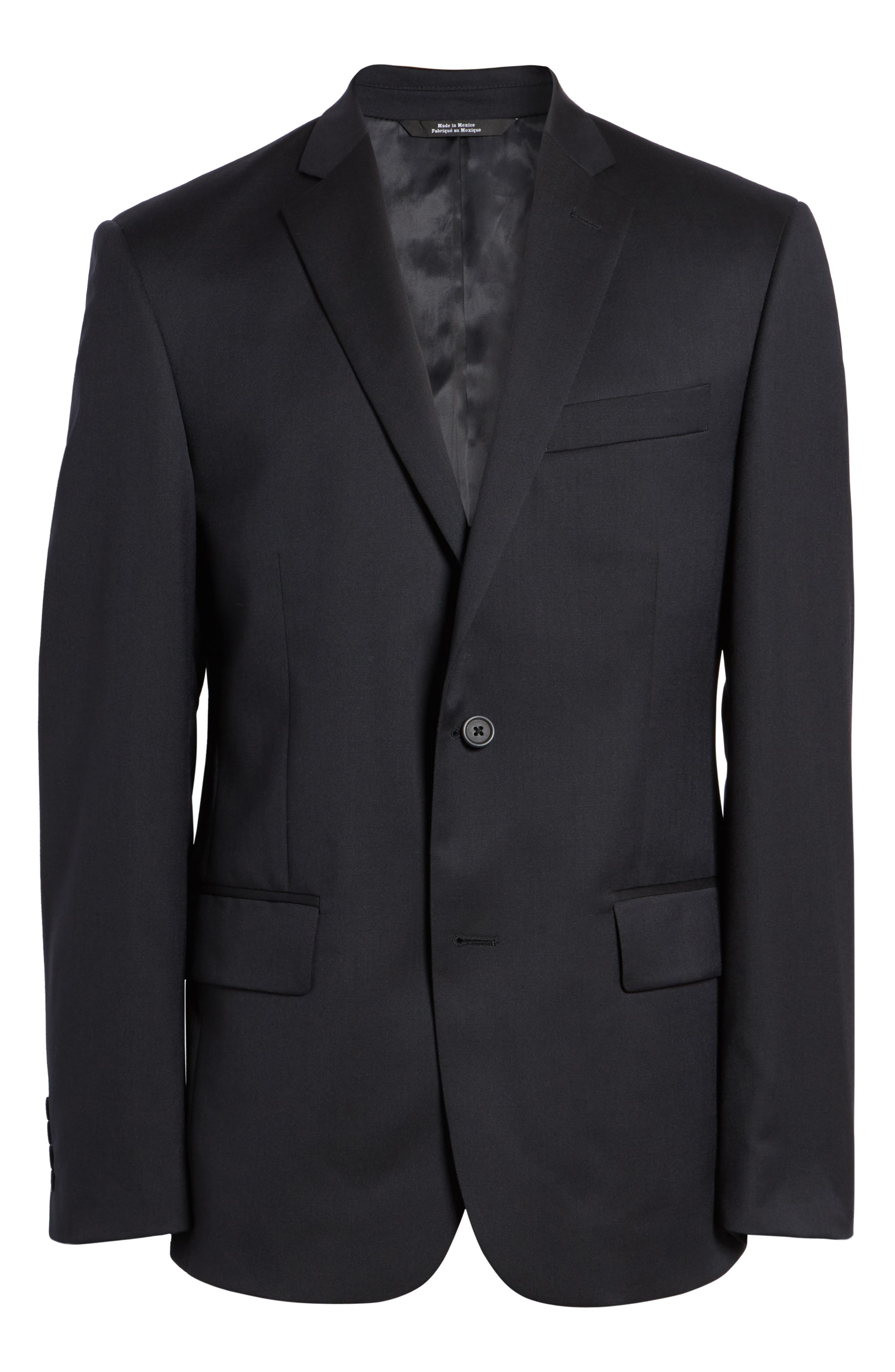 Classic Fit Solid Wool Sport Coat,                             Alternate thumbnail 5, color,                             NAVY