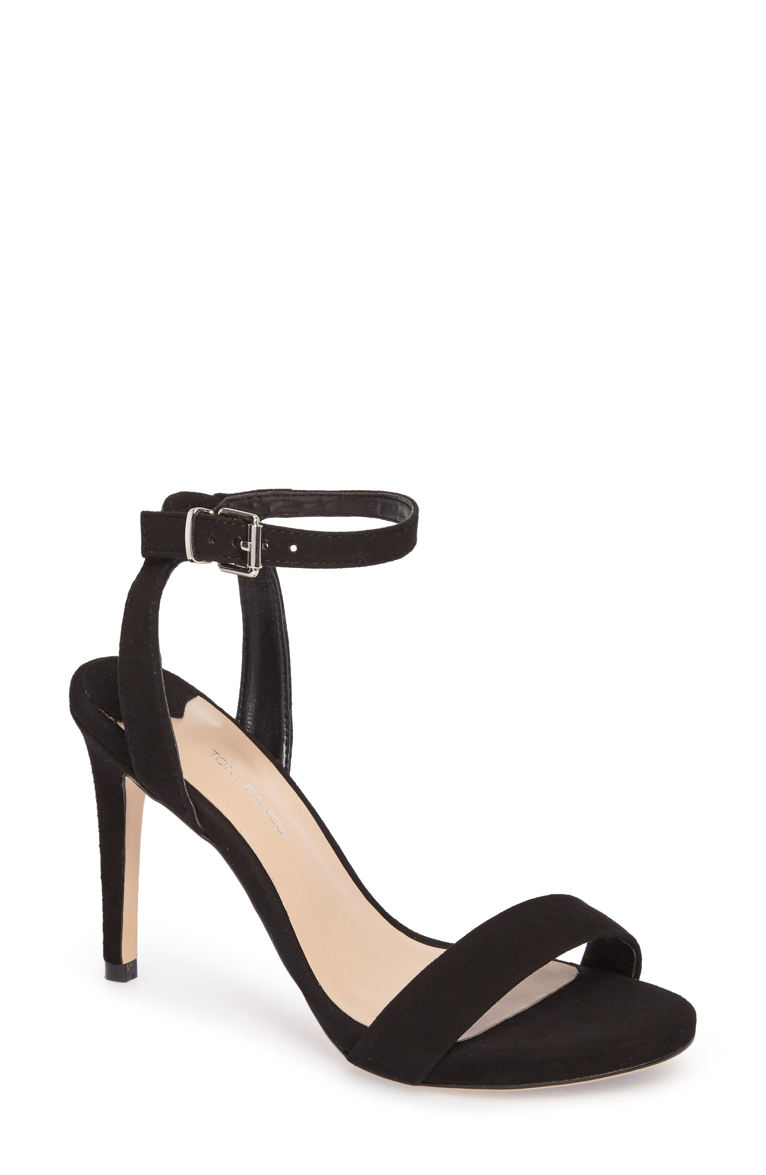 TONY BIANCO,                             Char Ankle Cuff Sandal,                             Main thumbnail 1, color,                             001