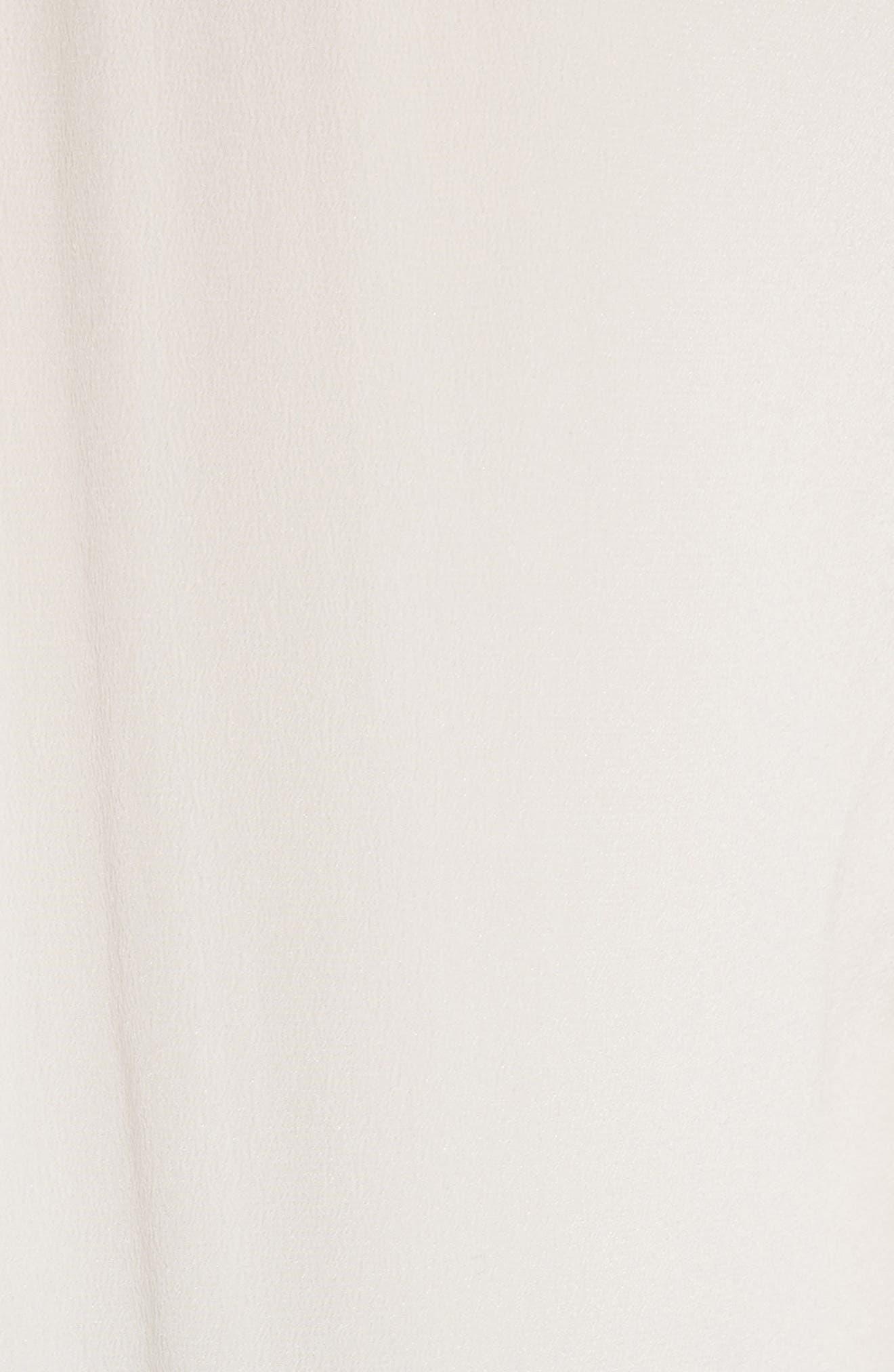 'Slim Signature' Silk Shirt,                             Alternate thumbnail 5, color,                             BRIGHT WHITE