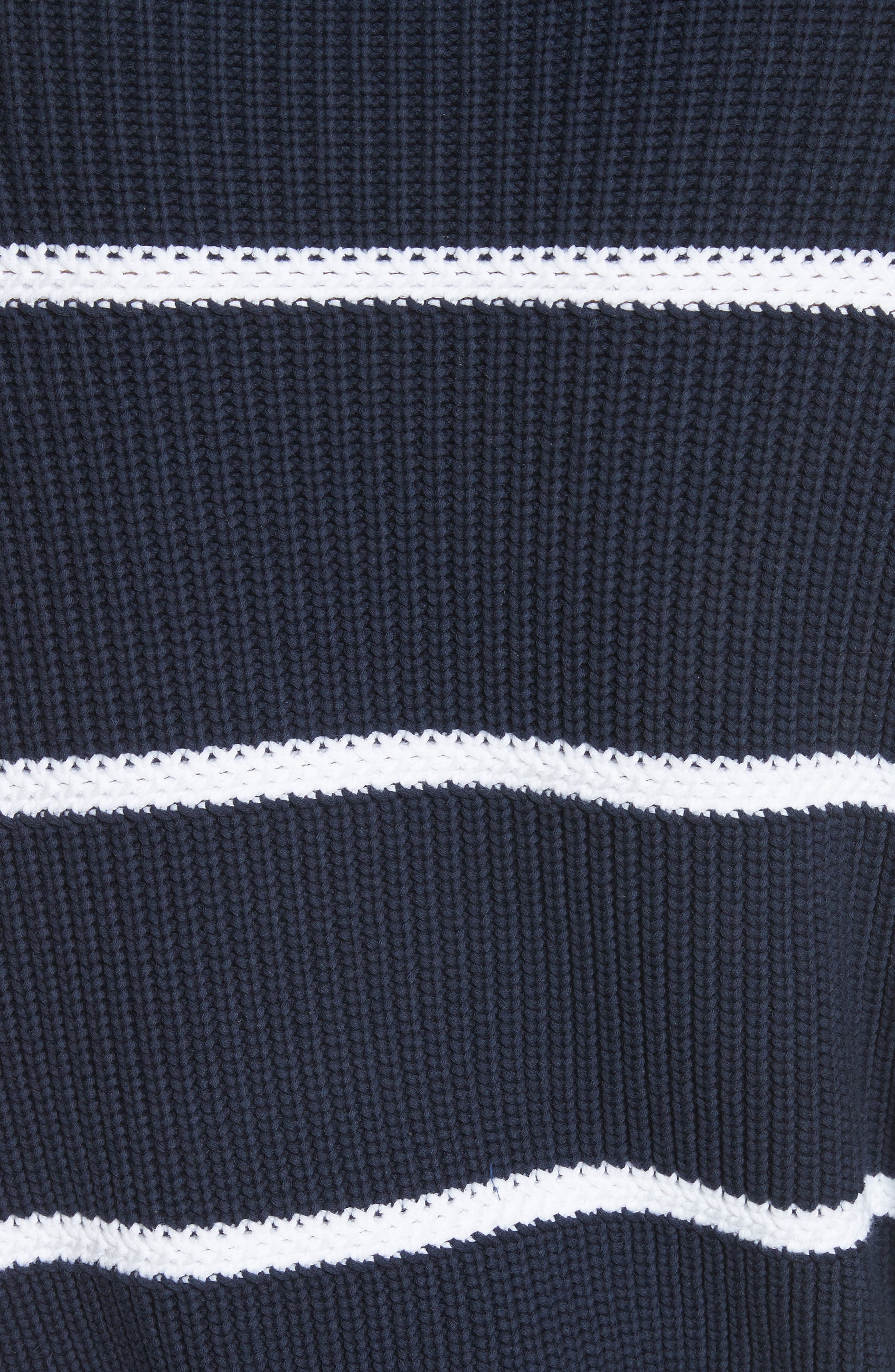 Cotton Blend Rib Knit Stripe Sweater,                             Alternate thumbnail 10, color,