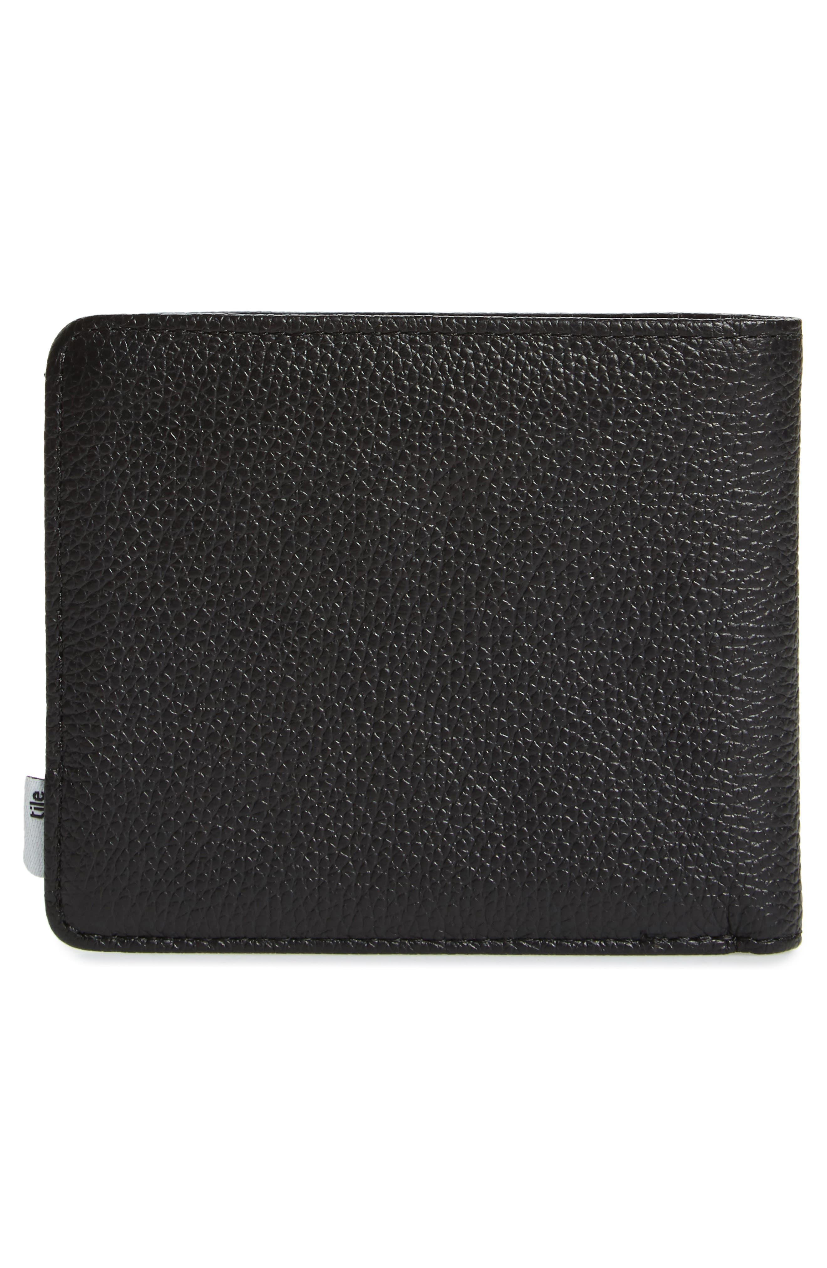 Tile Roy Leather Bifold Wallet,                             Alternate thumbnail 3, color,                             BLACK PEBBLED LEATHER