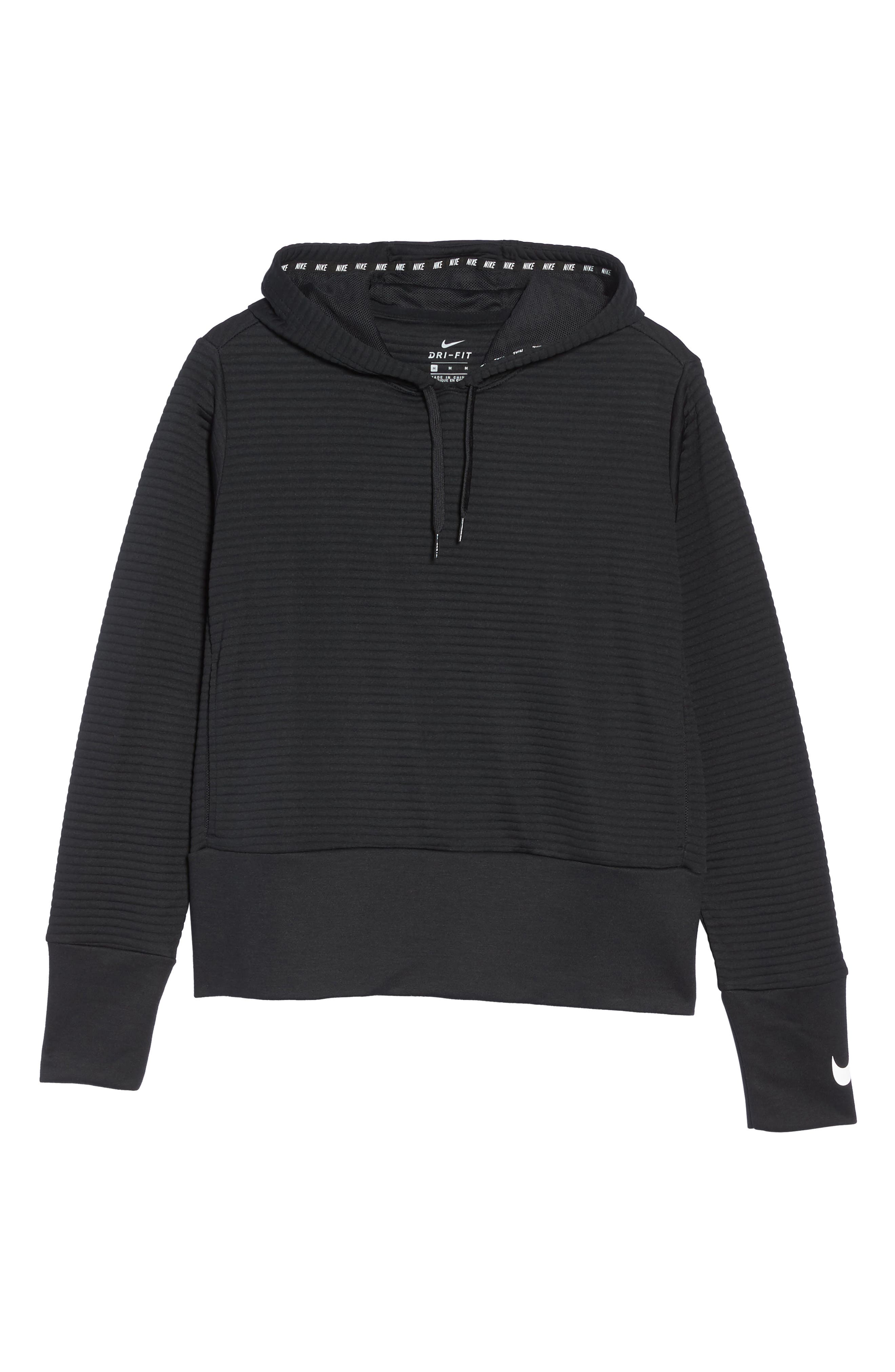 Dry Ribbed Hoodie,                             Alternate thumbnail 7, color,                             010