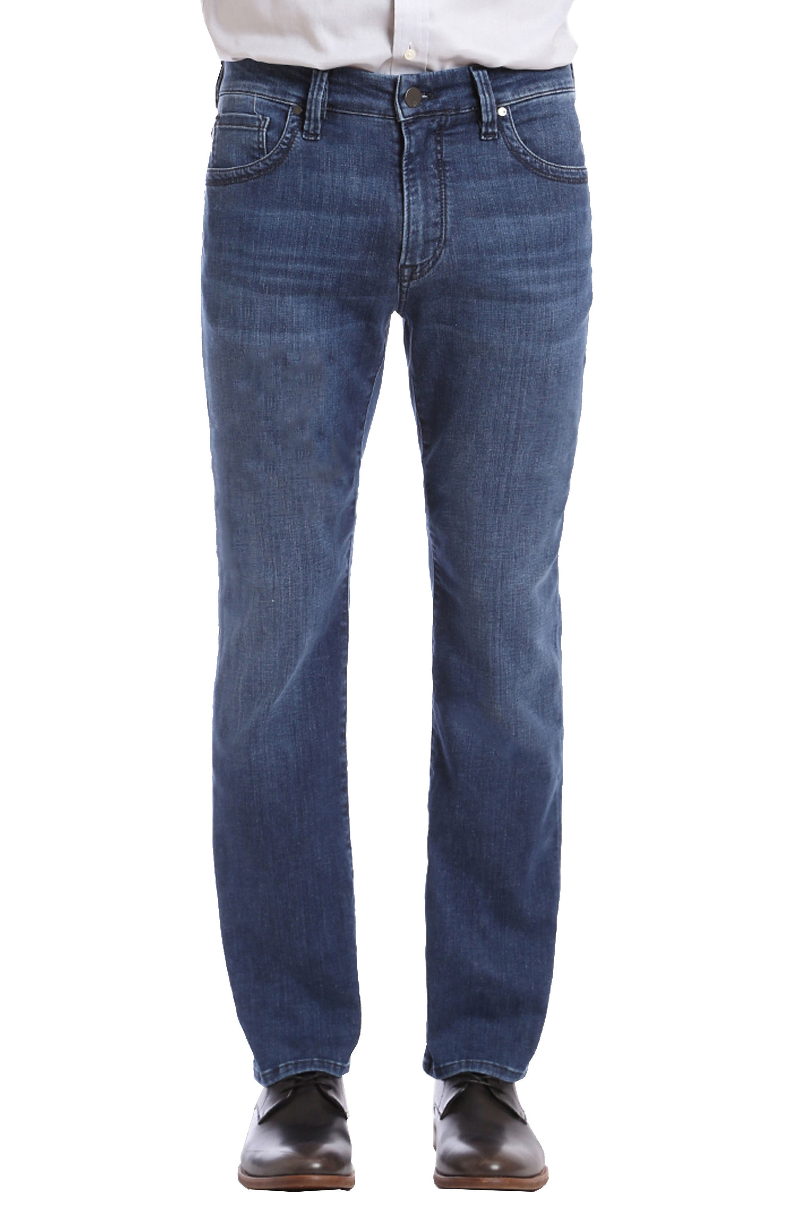 Courage Straight Fit Jeans,                             Main thumbnail 1, color,                             MID MILAN