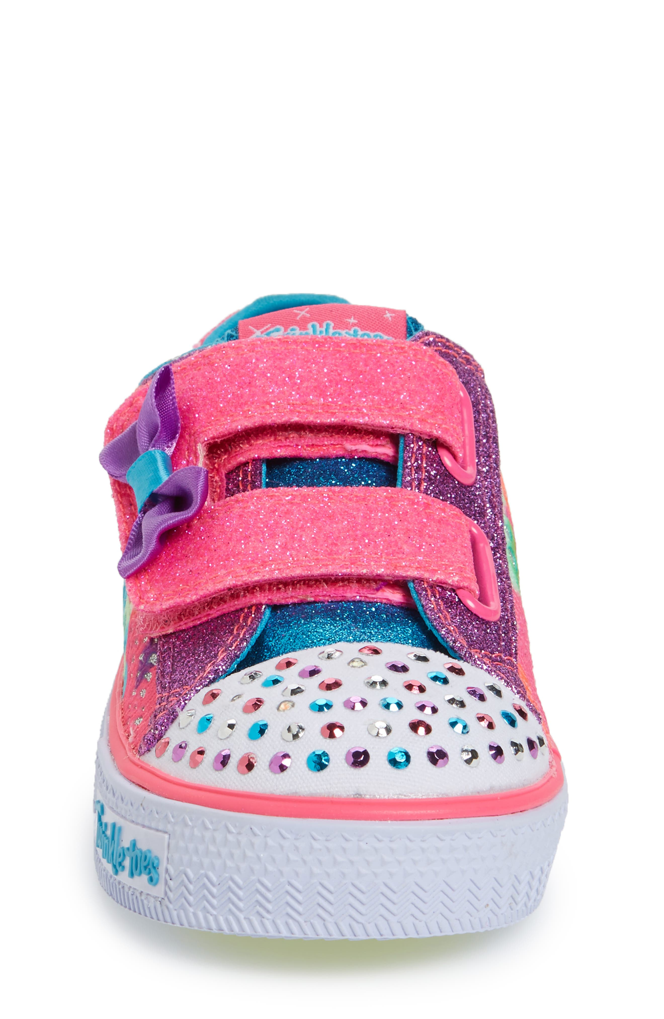 Twinkle Toes Shuffles Light-Up Sneaker,                             Alternate thumbnail 4, color,                             650