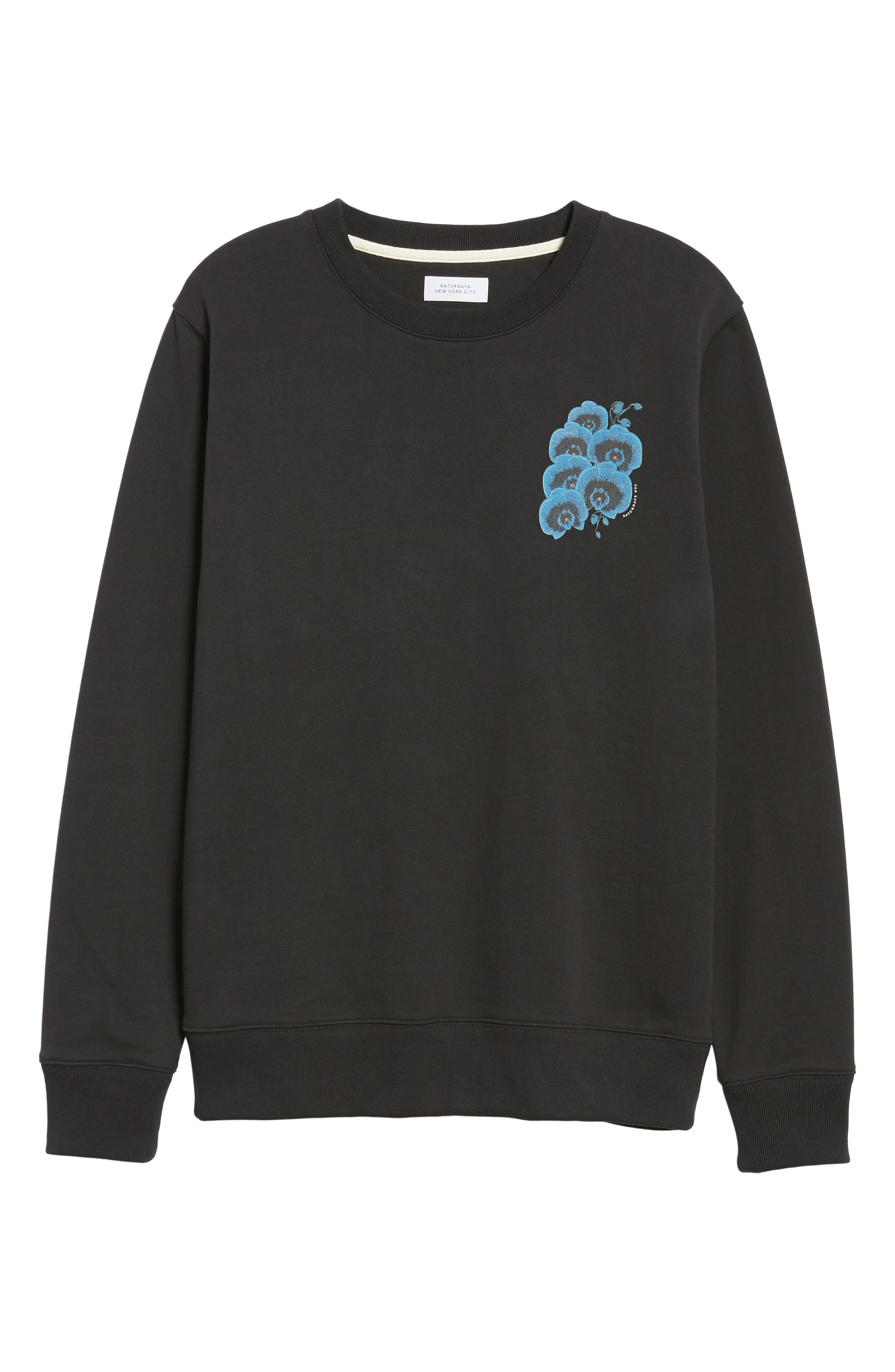 Bowery Orchid Graphic Sweatshirt,                             Alternate thumbnail 6, color,                             001