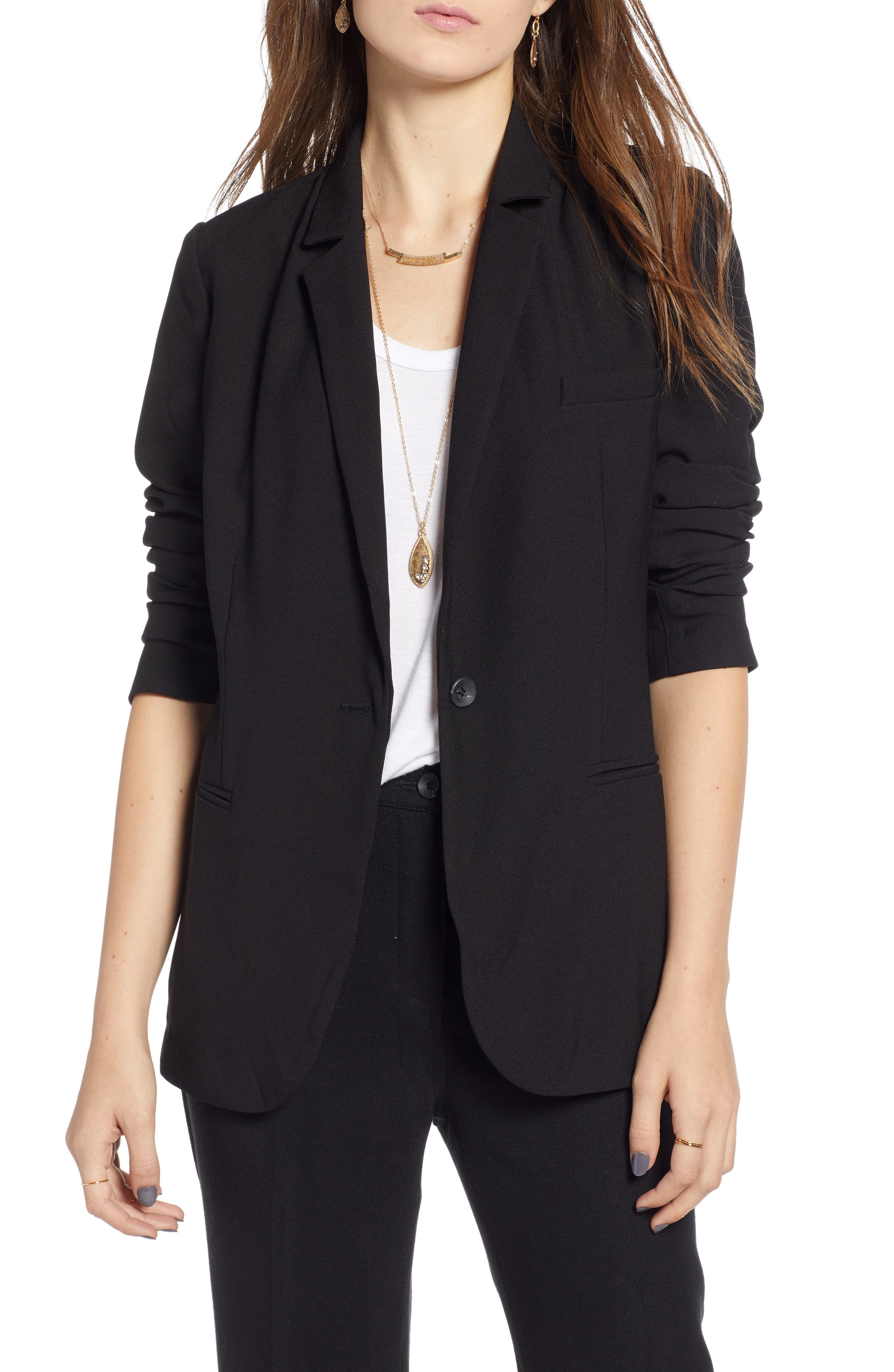 TREASURE & BOND,                             Relaxed Blazer,                             Main thumbnail 1, color,                             BLACK