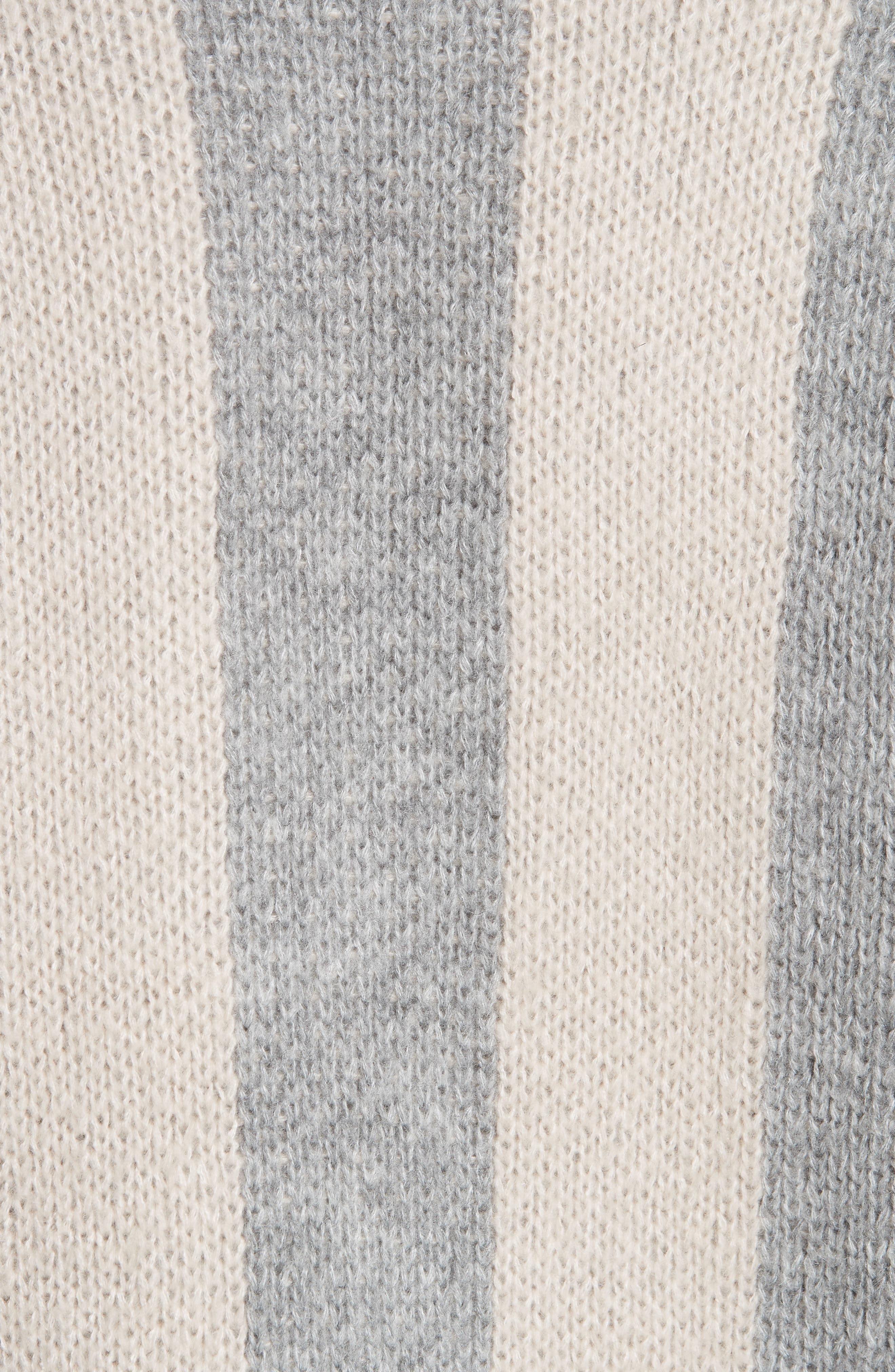 The Duster Sweater,                             Alternate thumbnail 5, color,                             HEATHER GREY STRIPE