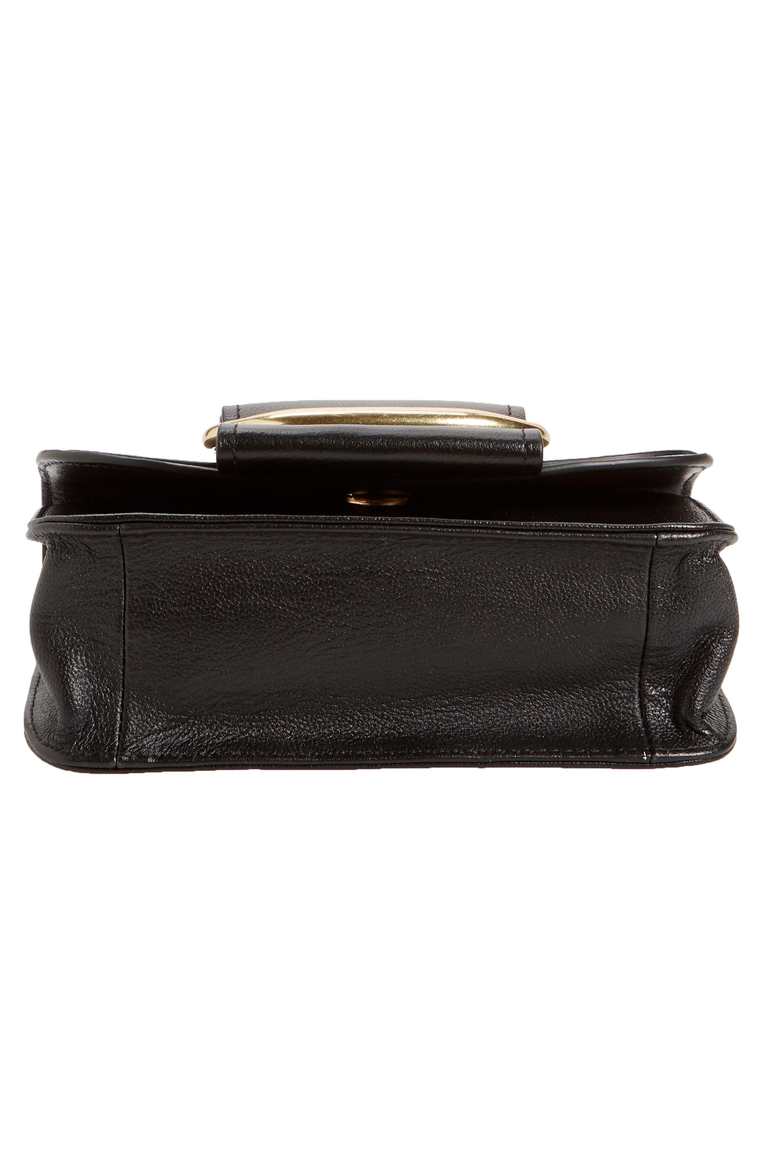 Hopper Leather Shoulder Bag,                             Alternate thumbnail 6, color,                             001