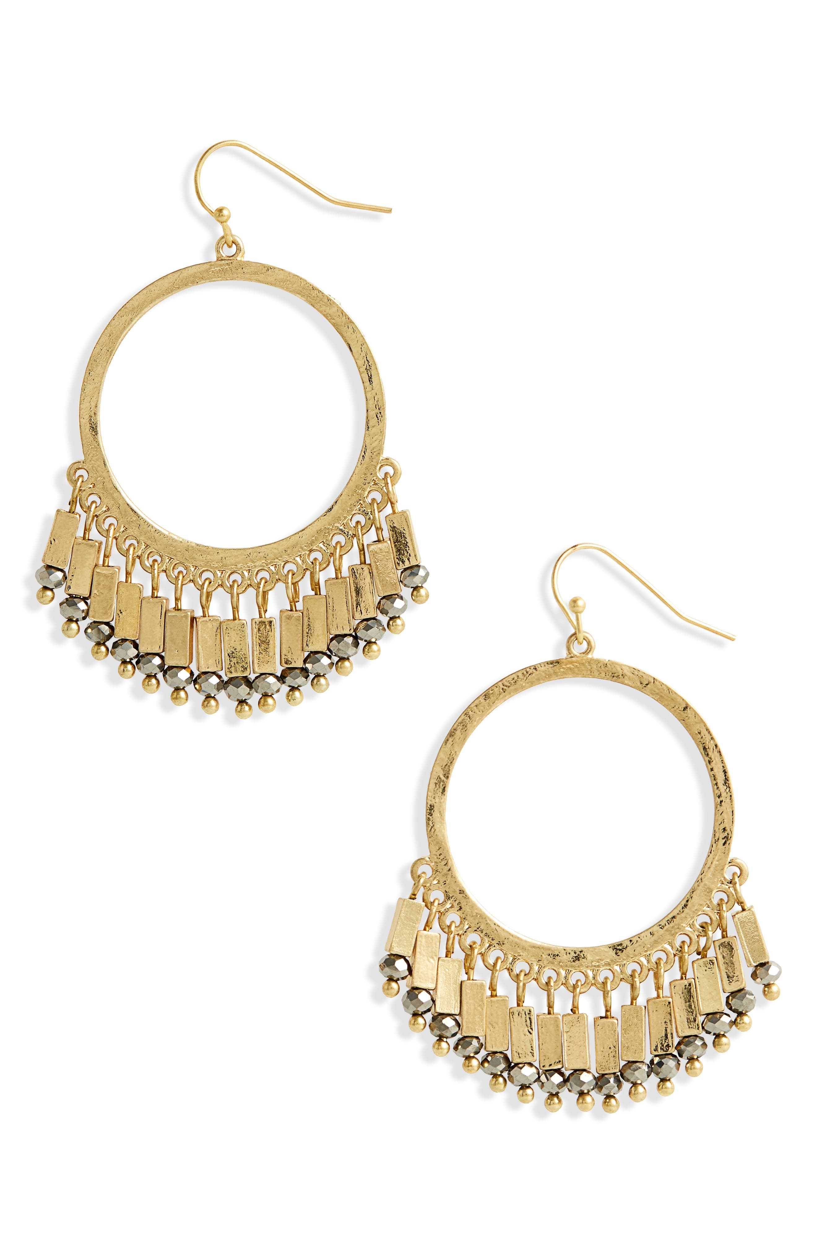 Beaded Hoop Earrings,                             Main thumbnail 1, color,                             710