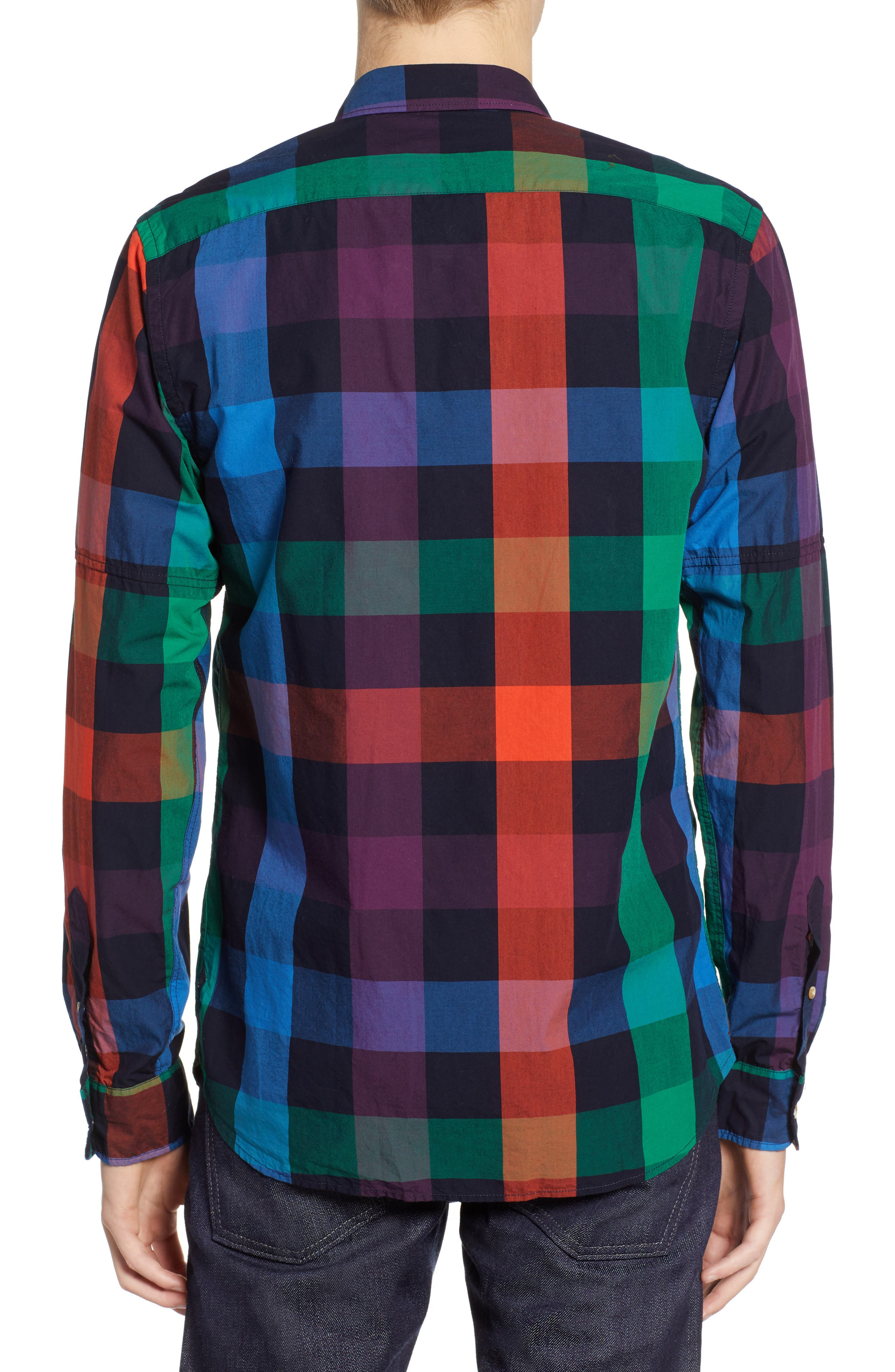 SCOTCH & SODA,                             Check Sport Shirt,                             Alternate thumbnail 2, color,                             300