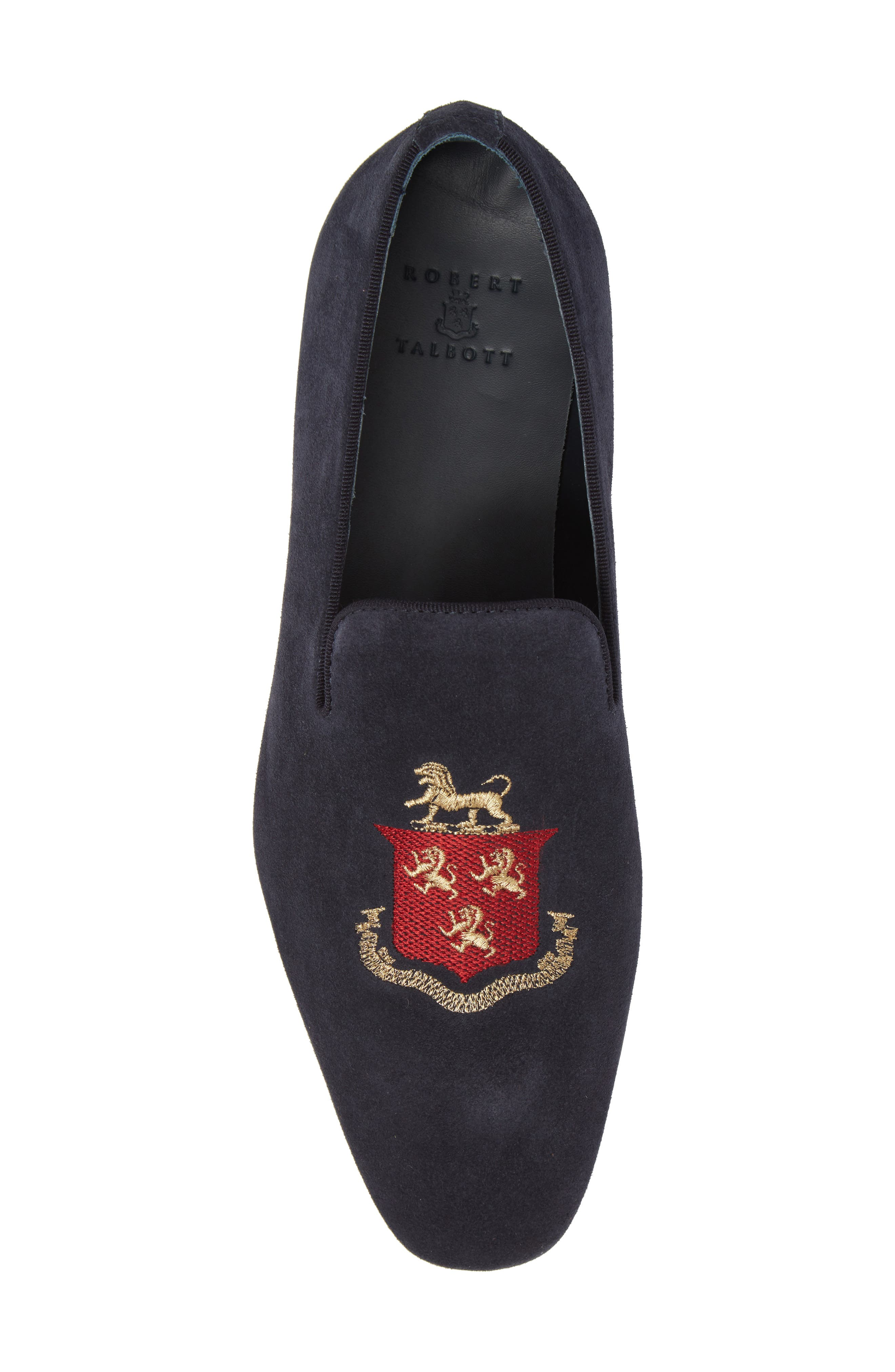 Altos Embroidered Venetian Loafer,                             Alternate thumbnail 5, color,                             NAVY