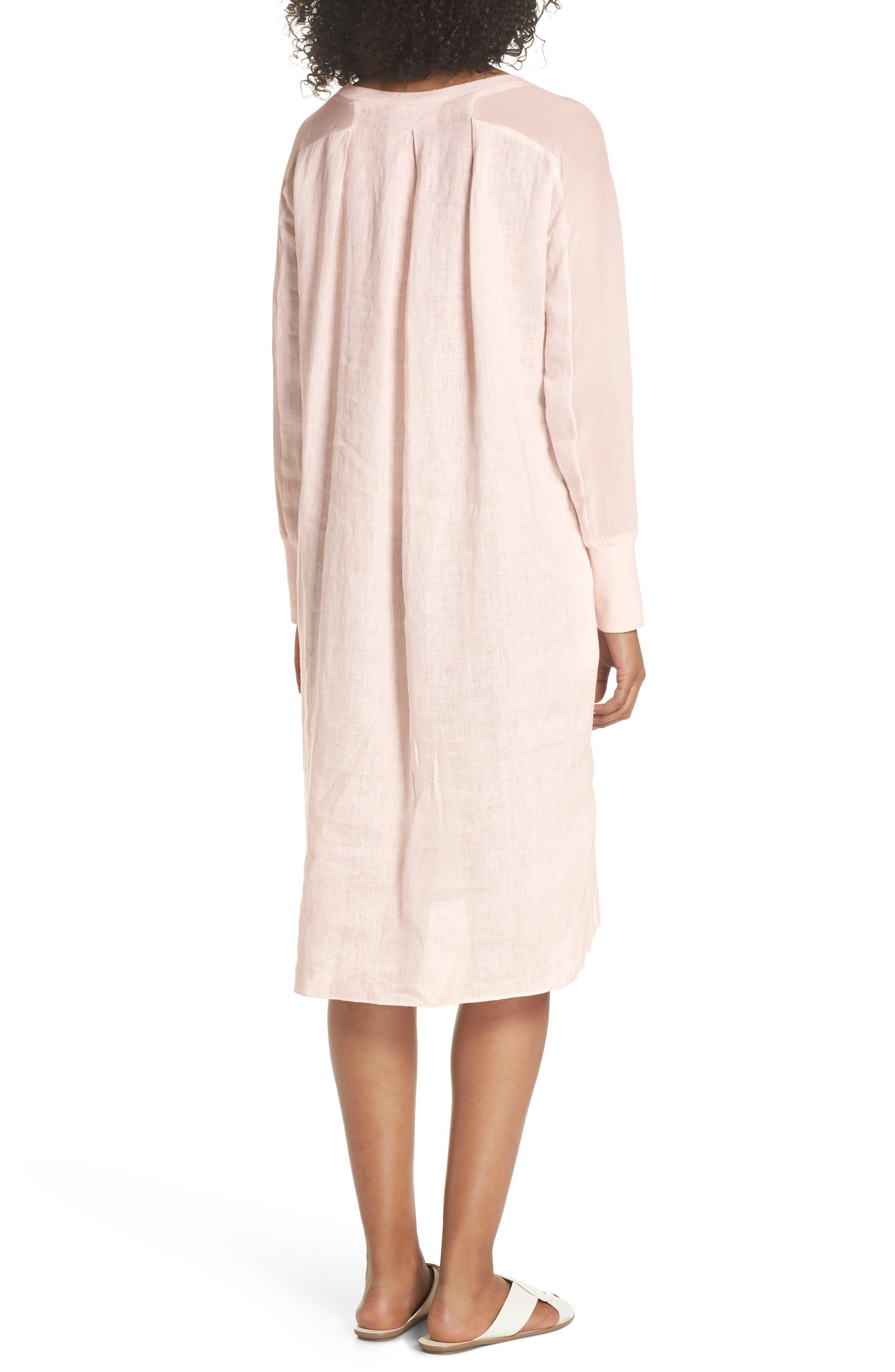 Rata Linen Shift Dress,                             Alternate thumbnail 2, color,                             680