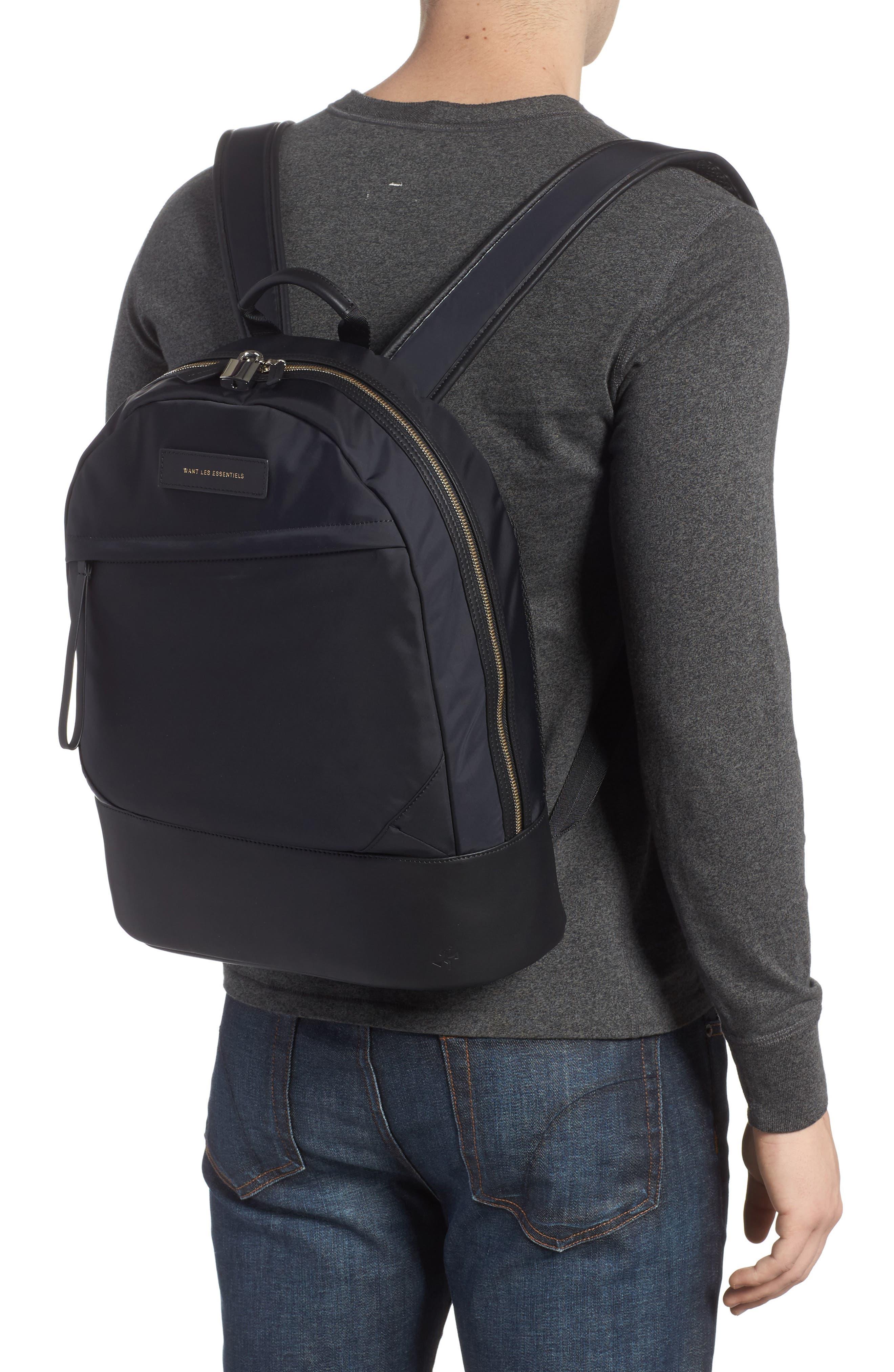 'Kastrup' Backpack,                             Alternate thumbnail 2, color,                             BLACK NYLON