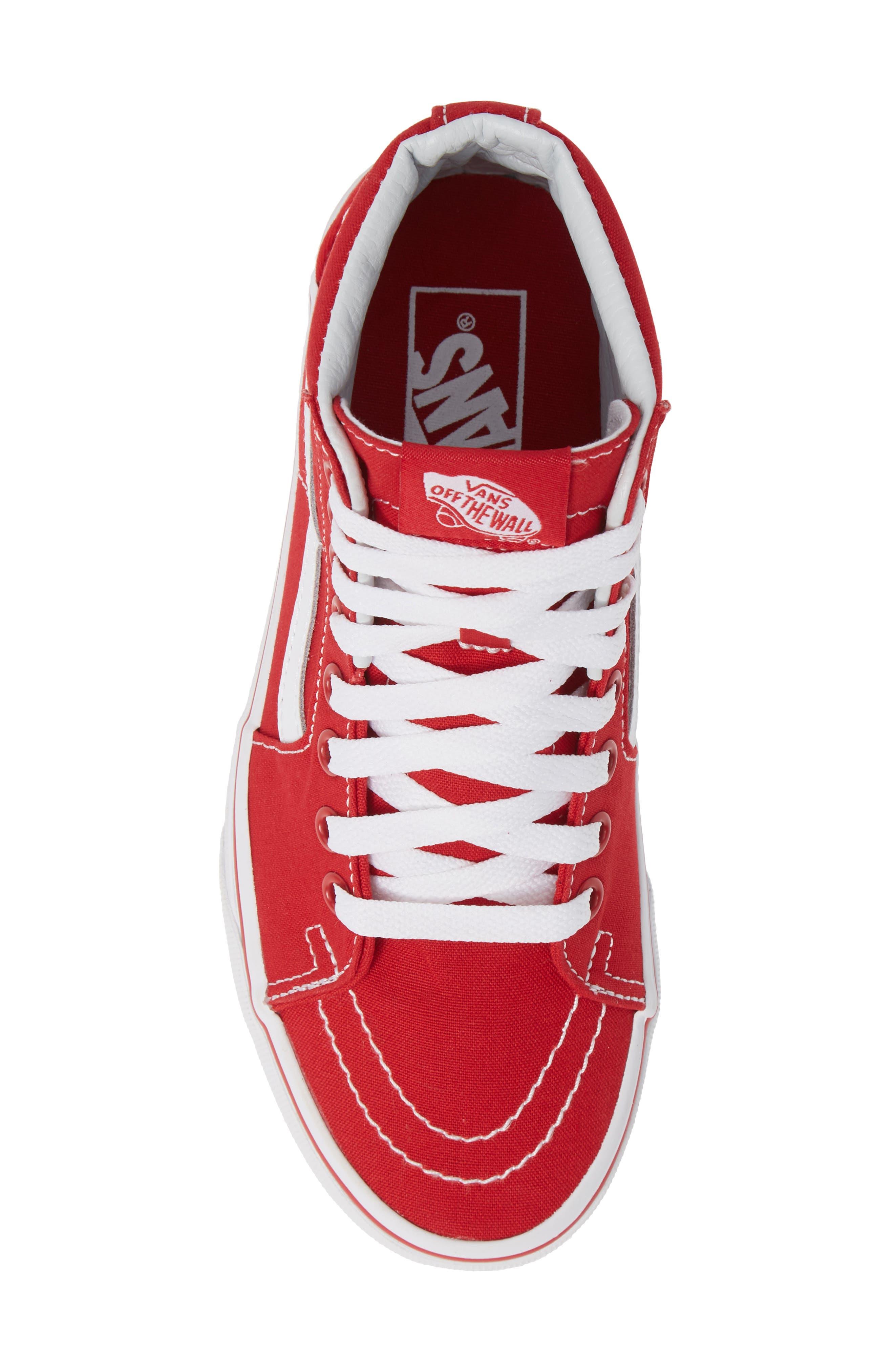 'Sk8-Hi' Sneaker,                             Alternate thumbnail 5, color,                             CANVAS FORMULA ONE