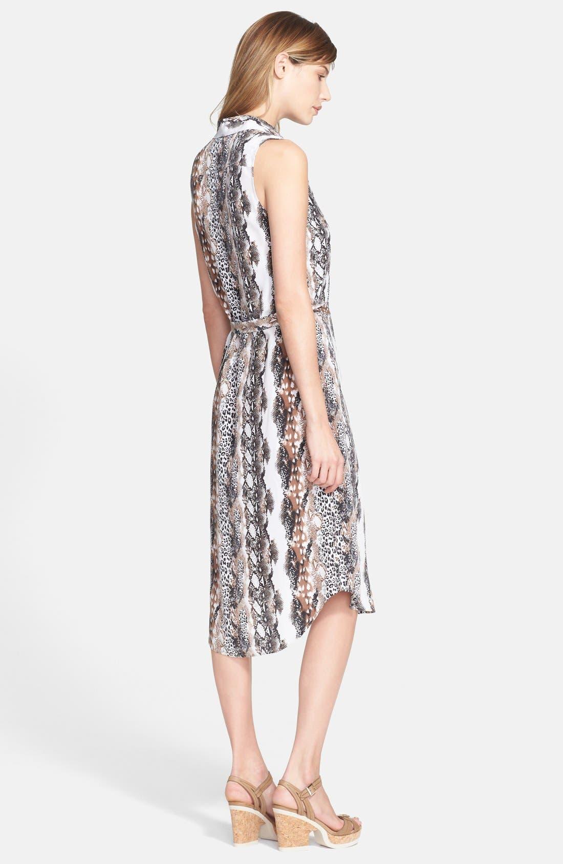'Teagan' Print Silk Dress,                             Alternate thumbnail 2, color,                             118