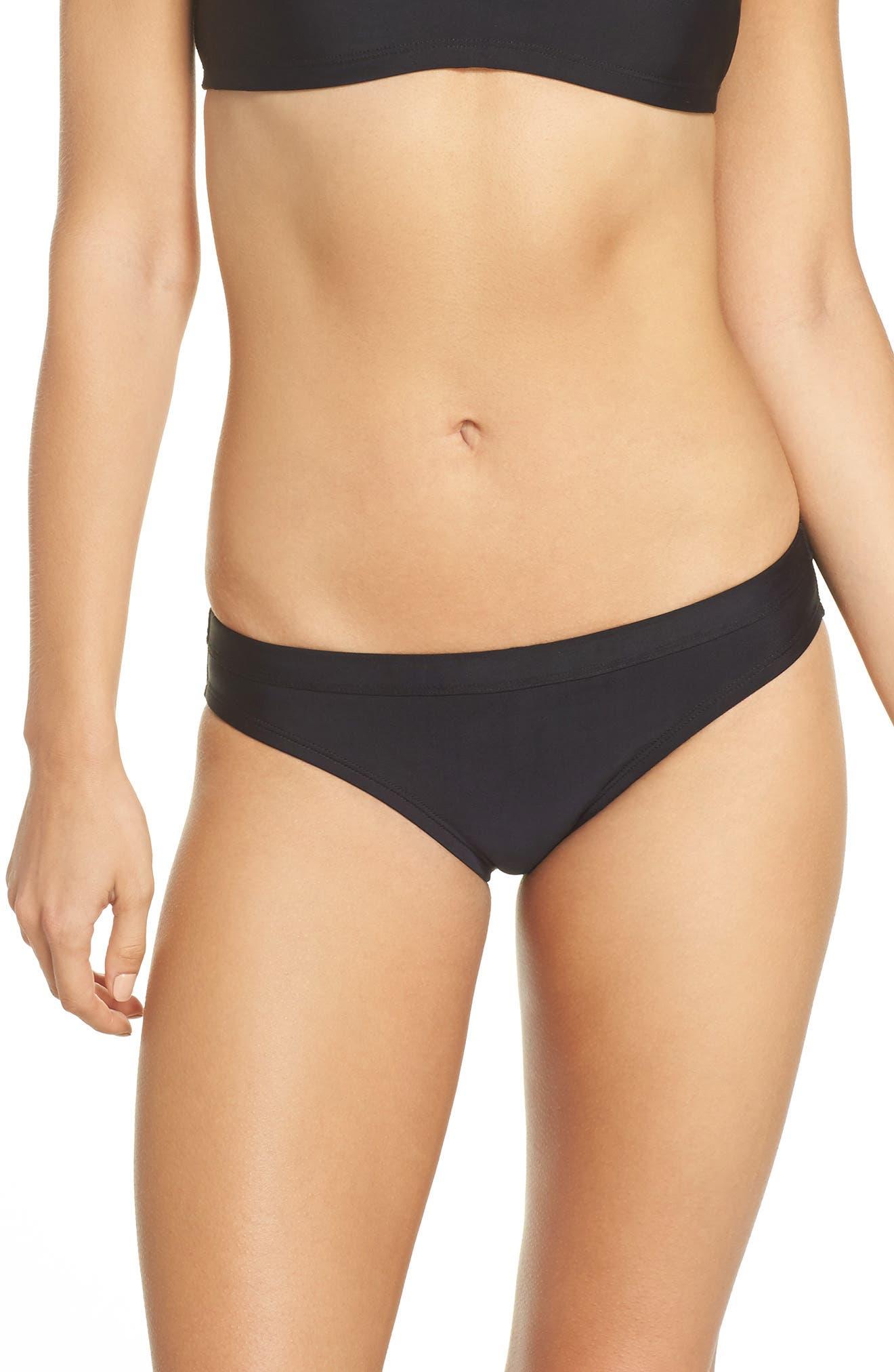 Sport Bikini Bottoms,                         Main,                         color, BLACK