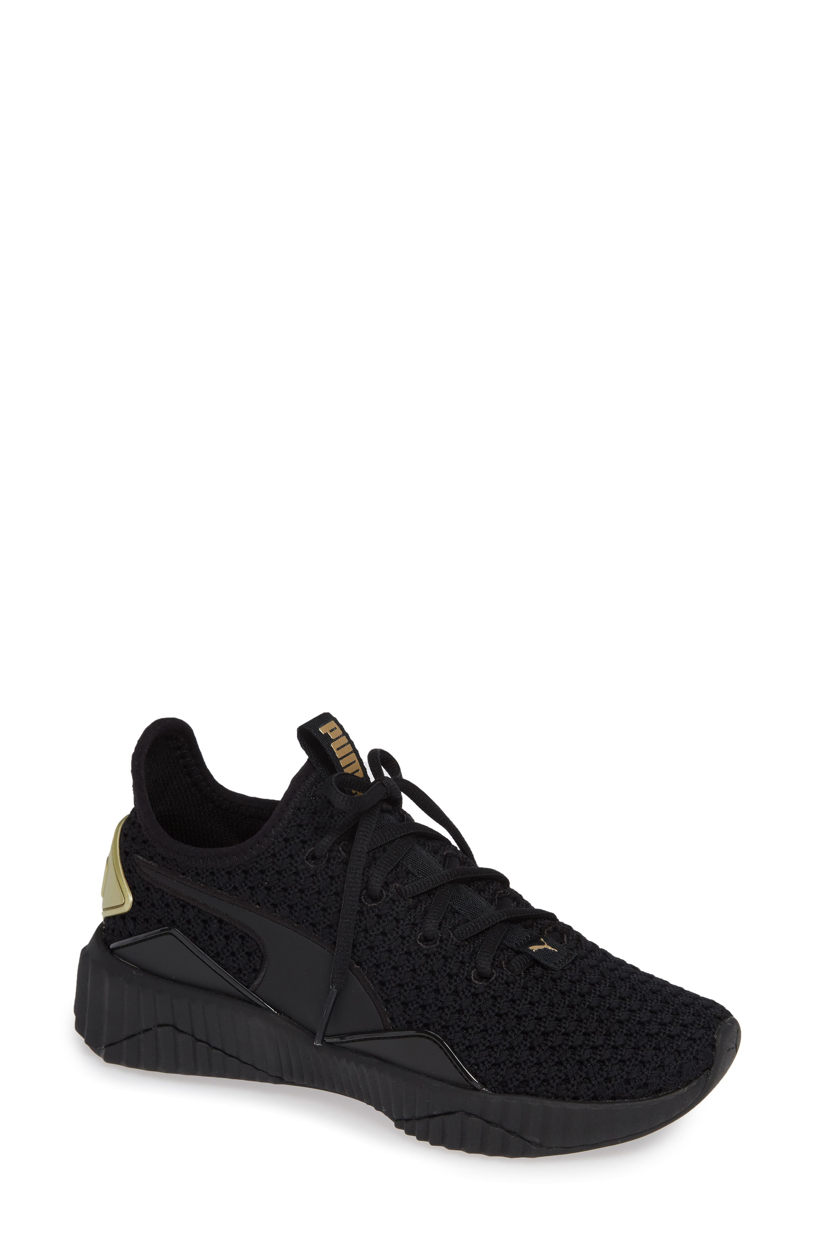 Defy Varsity Sneaker,                             Main thumbnail 1, color,                             001
