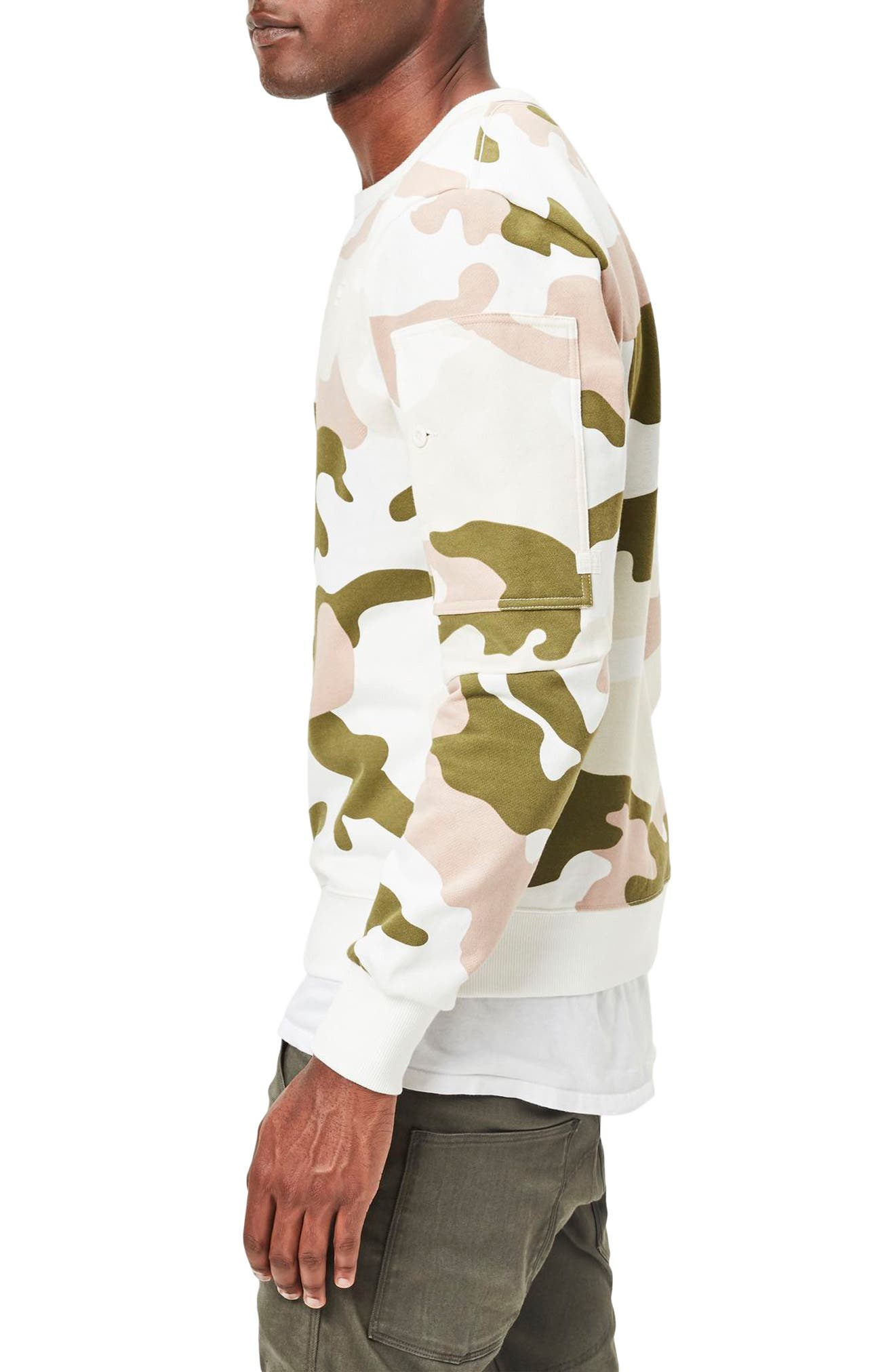 Stalt Camo Sweatshirt,                             Alternate thumbnail 3, color,
