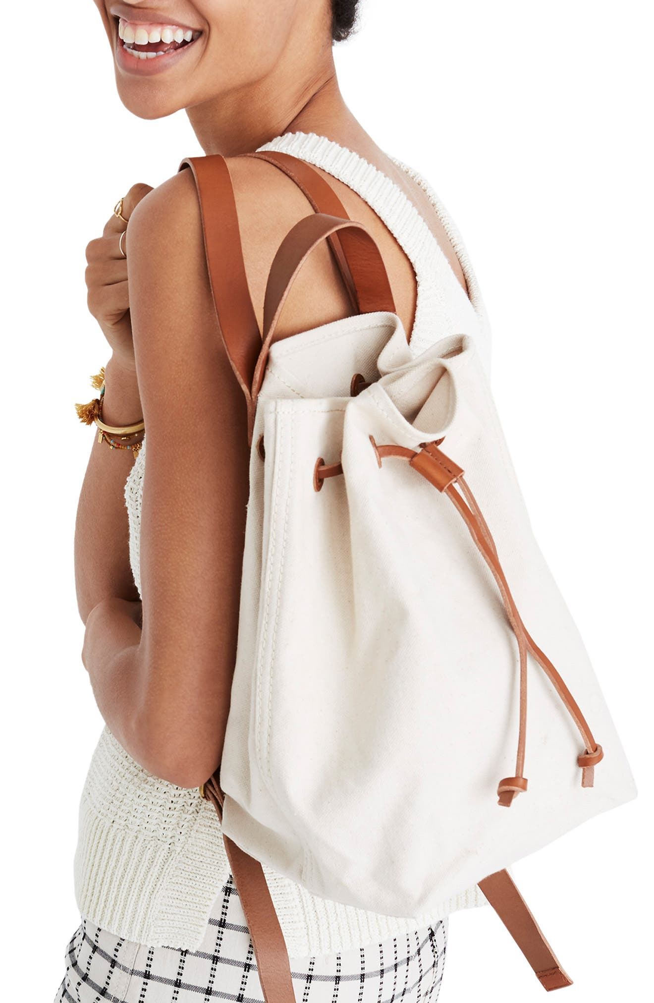 Somerset Canvas Backpack,                             Alternate thumbnail 8, color,