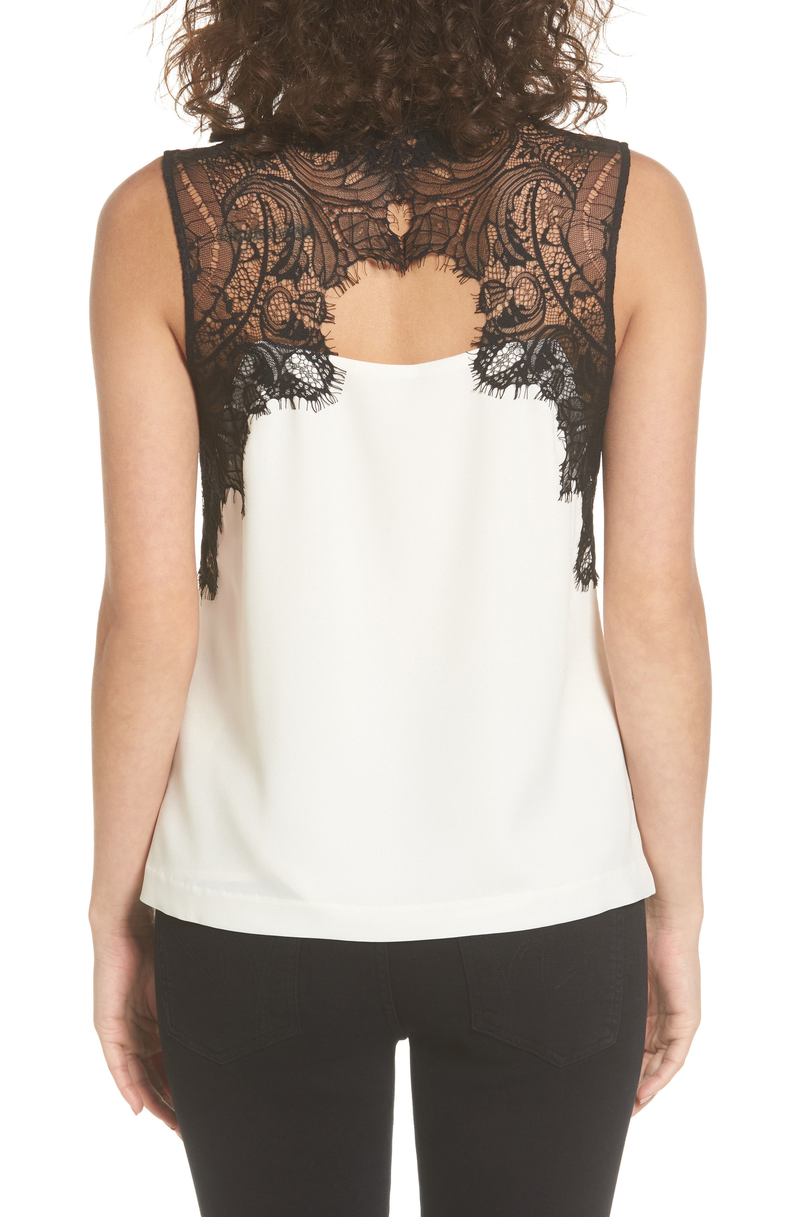 Vera Lace Sleeveless Blouse,                             Alternate thumbnail 2, color,                             900