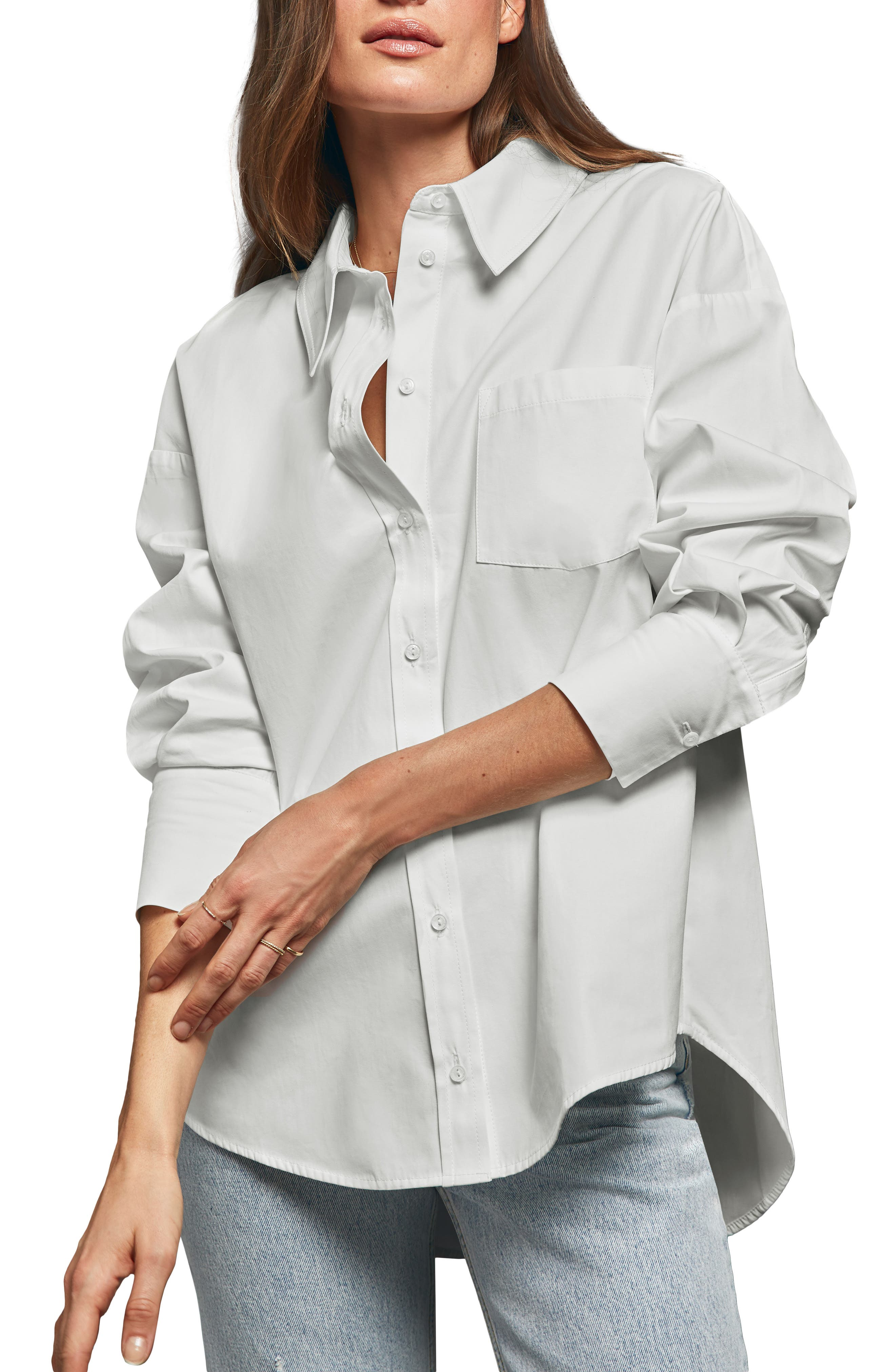 ANINE BING Mika Shirt, Main, color, 100