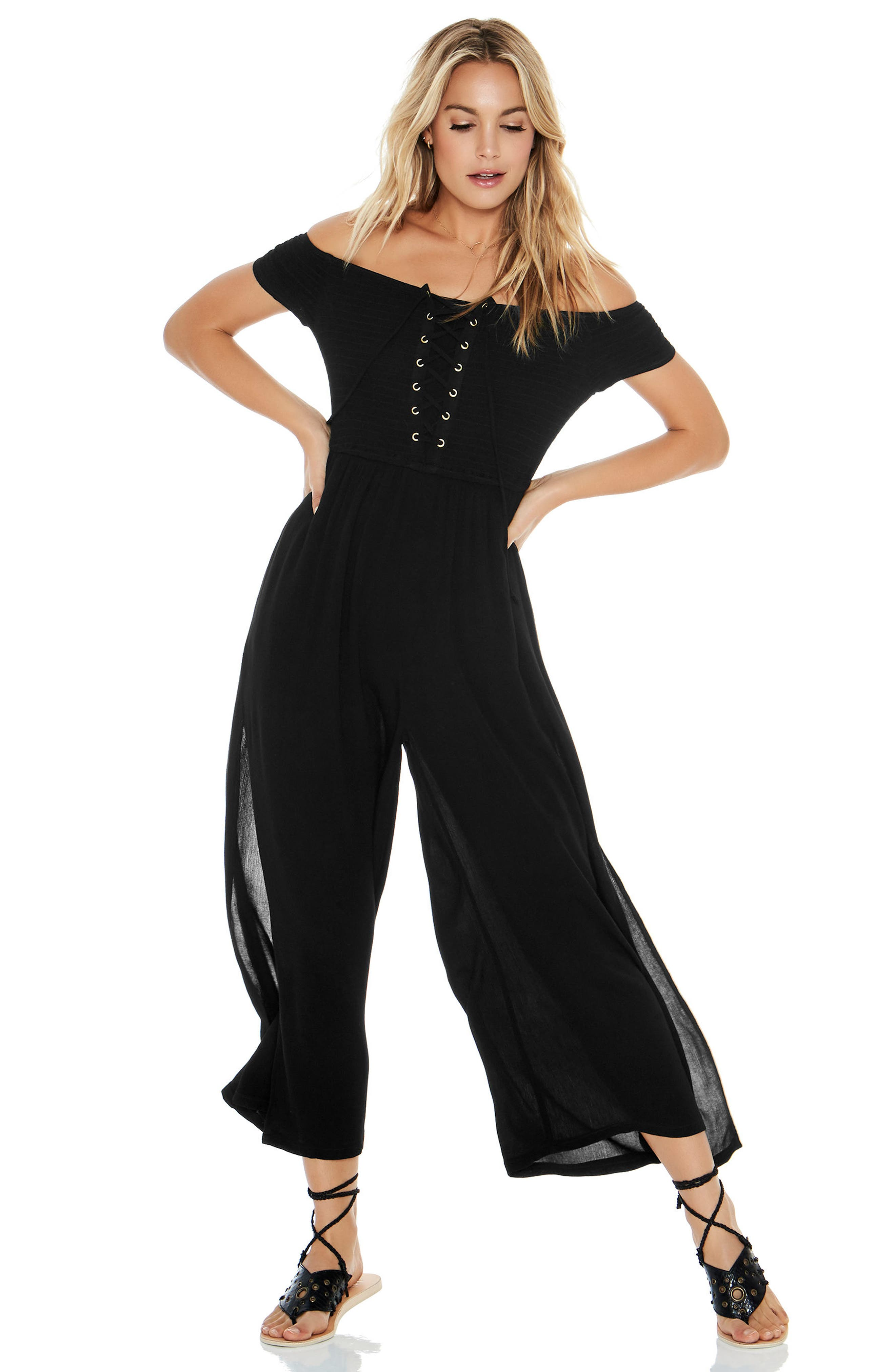 Sao Paulo Cover-Up Jumpsuit,                             Alternate thumbnail 3, color,                             001