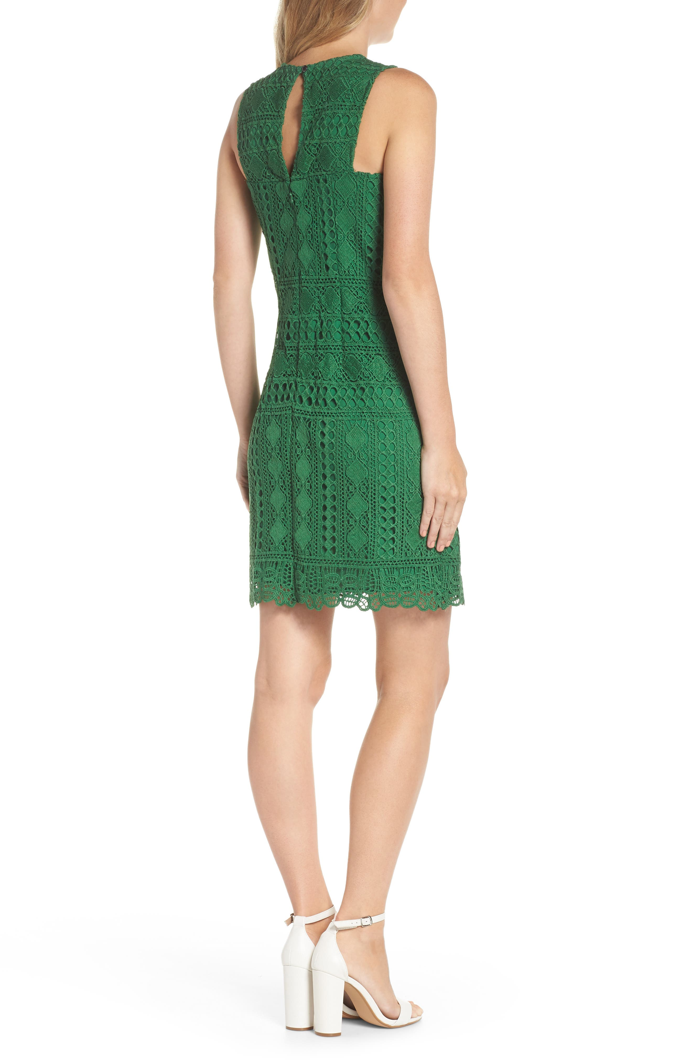 Lace Sheath Dress,                             Alternate thumbnail 2, color,                             310