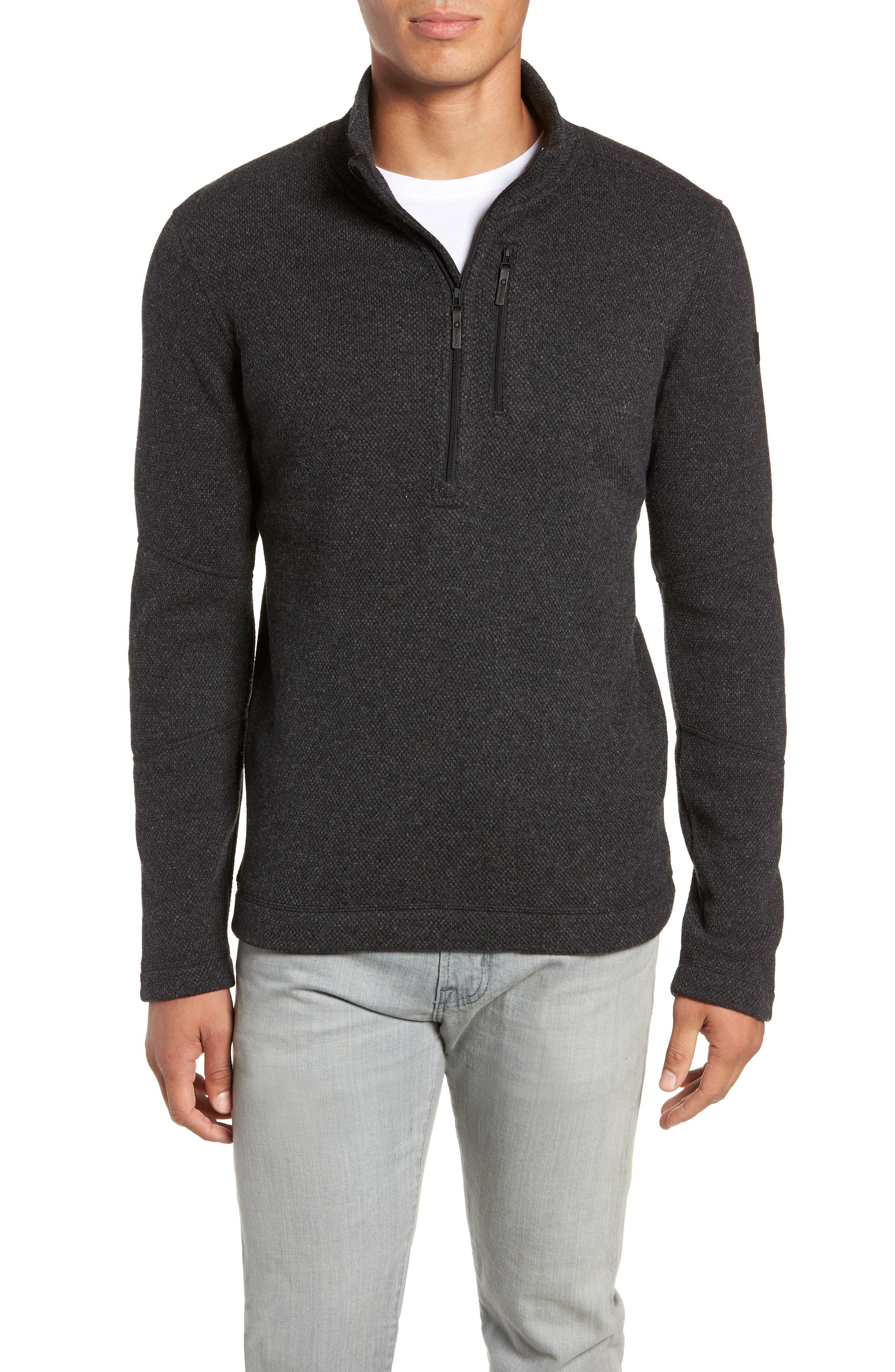 Hudson Trail Regular Fit Fleece Half-Zip Sweater,                             Main thumbnail 1, color,                             020