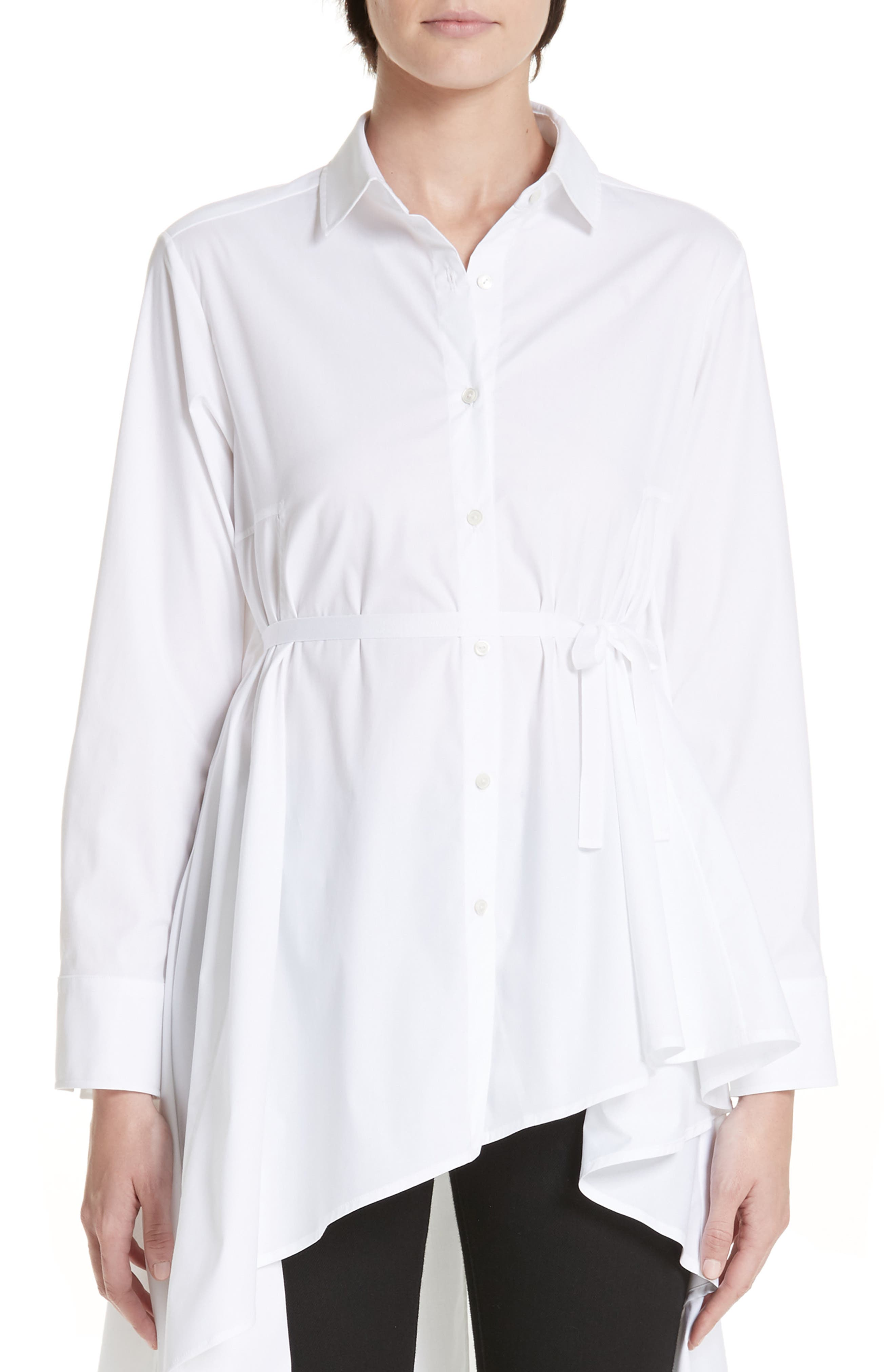 PALMER//HARDING Long Super Shirt in White