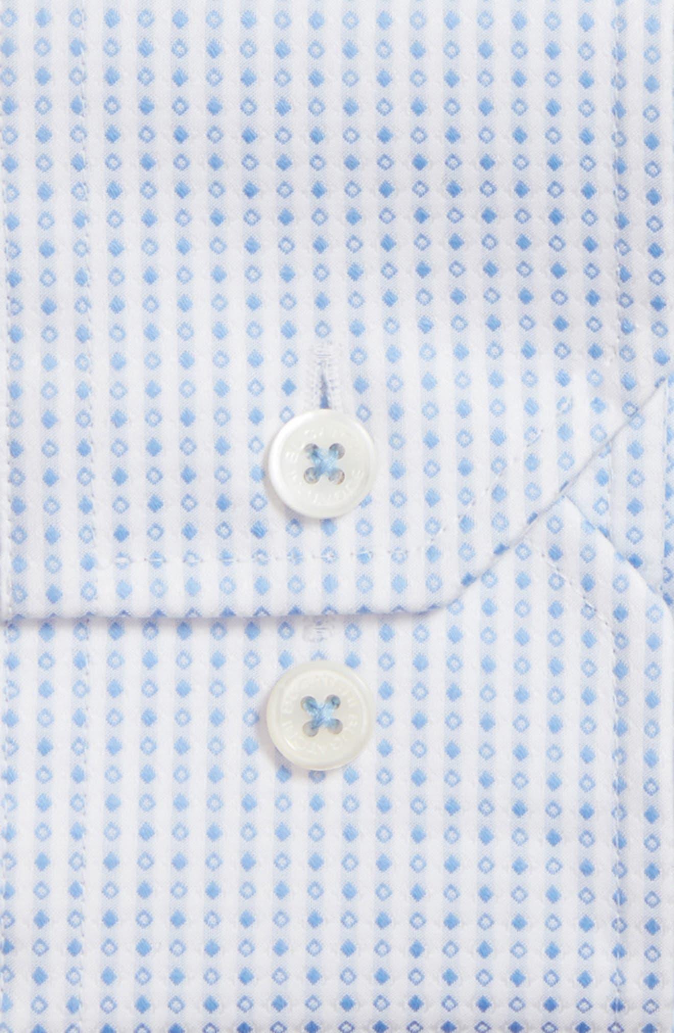 Shaped Fit Geometric Dress Shirt,                             Alternate thumbnail 2, color,                             459