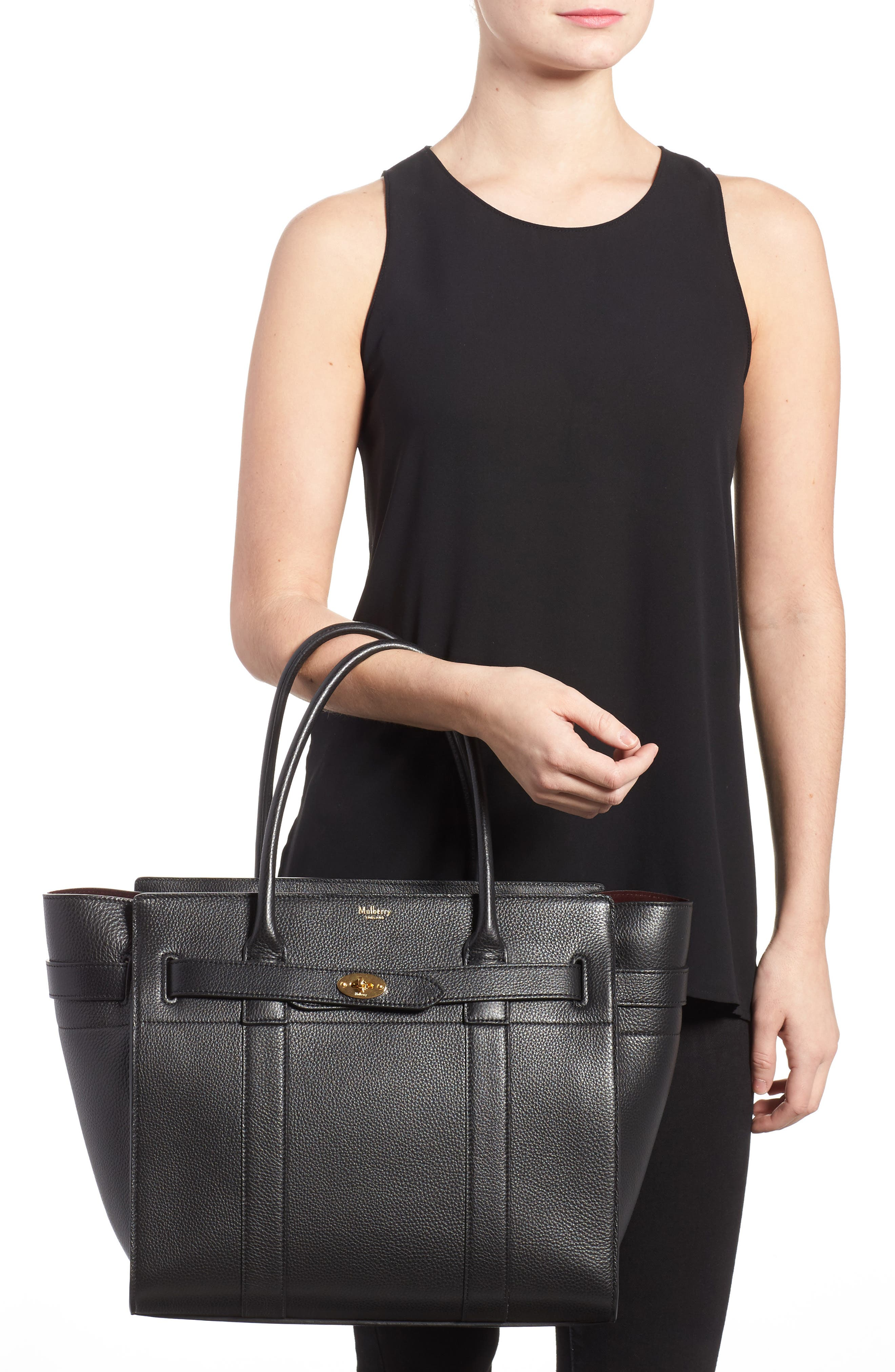 Large Bayswater Leather Tote,                             Alternate thumbnail 2, color,                             010