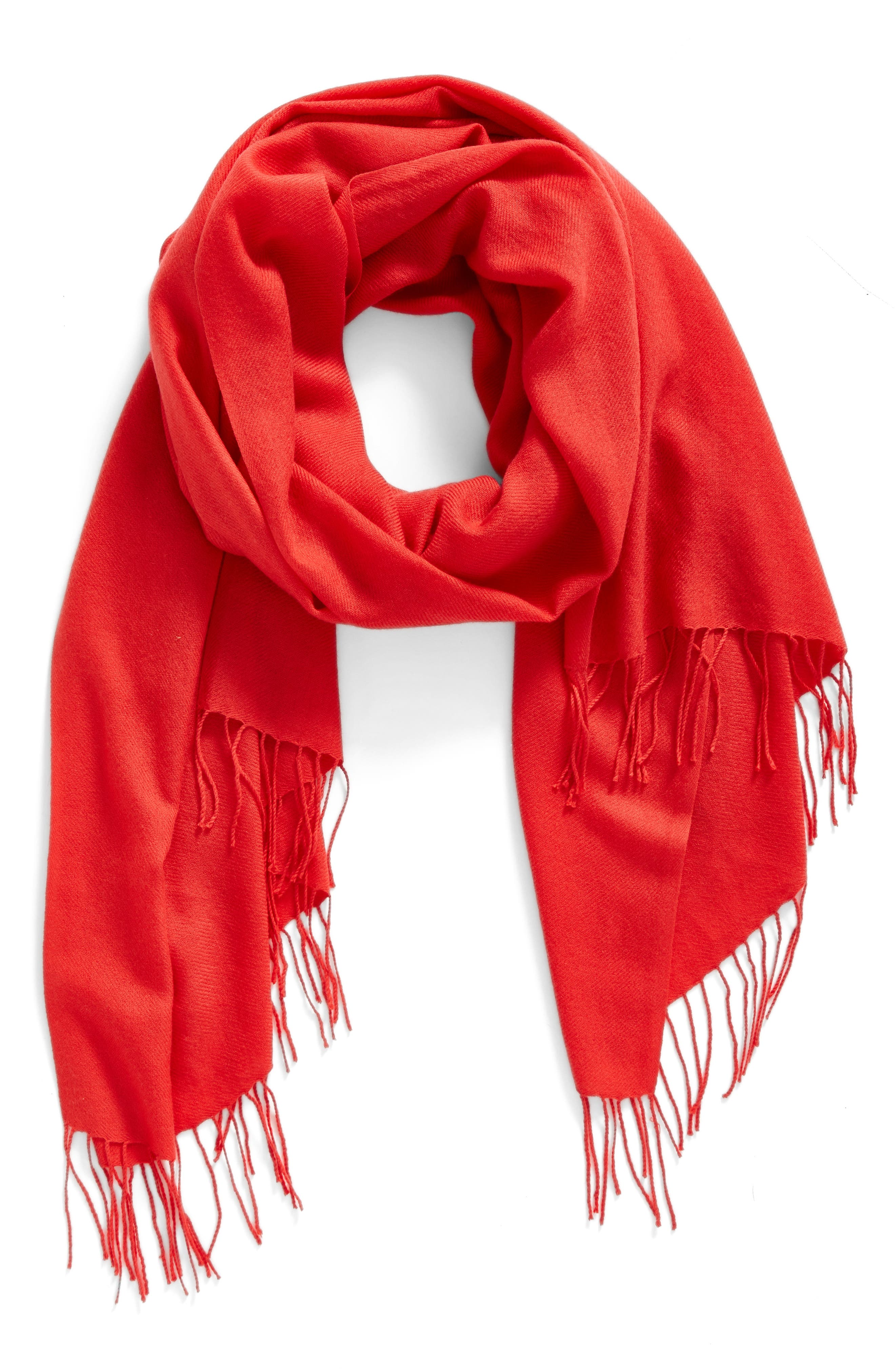 Tissue Weight Wool & Cashmere Scarf,                             Alternate thumbnail 128, color,