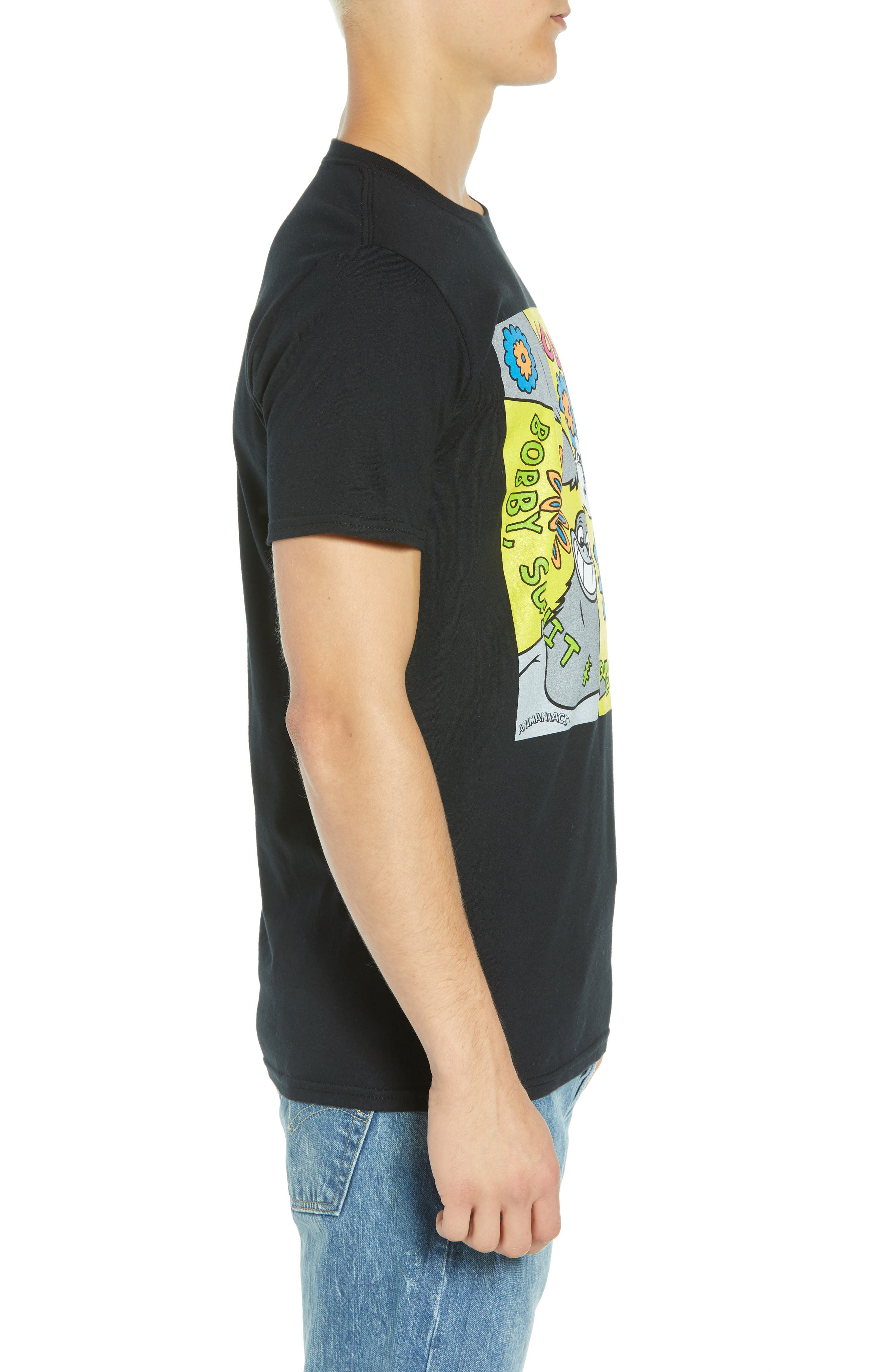 Goodfeathers T-Shirt,                             Alternate thumbnail 3, color,                             BLACK GOODFEATHER