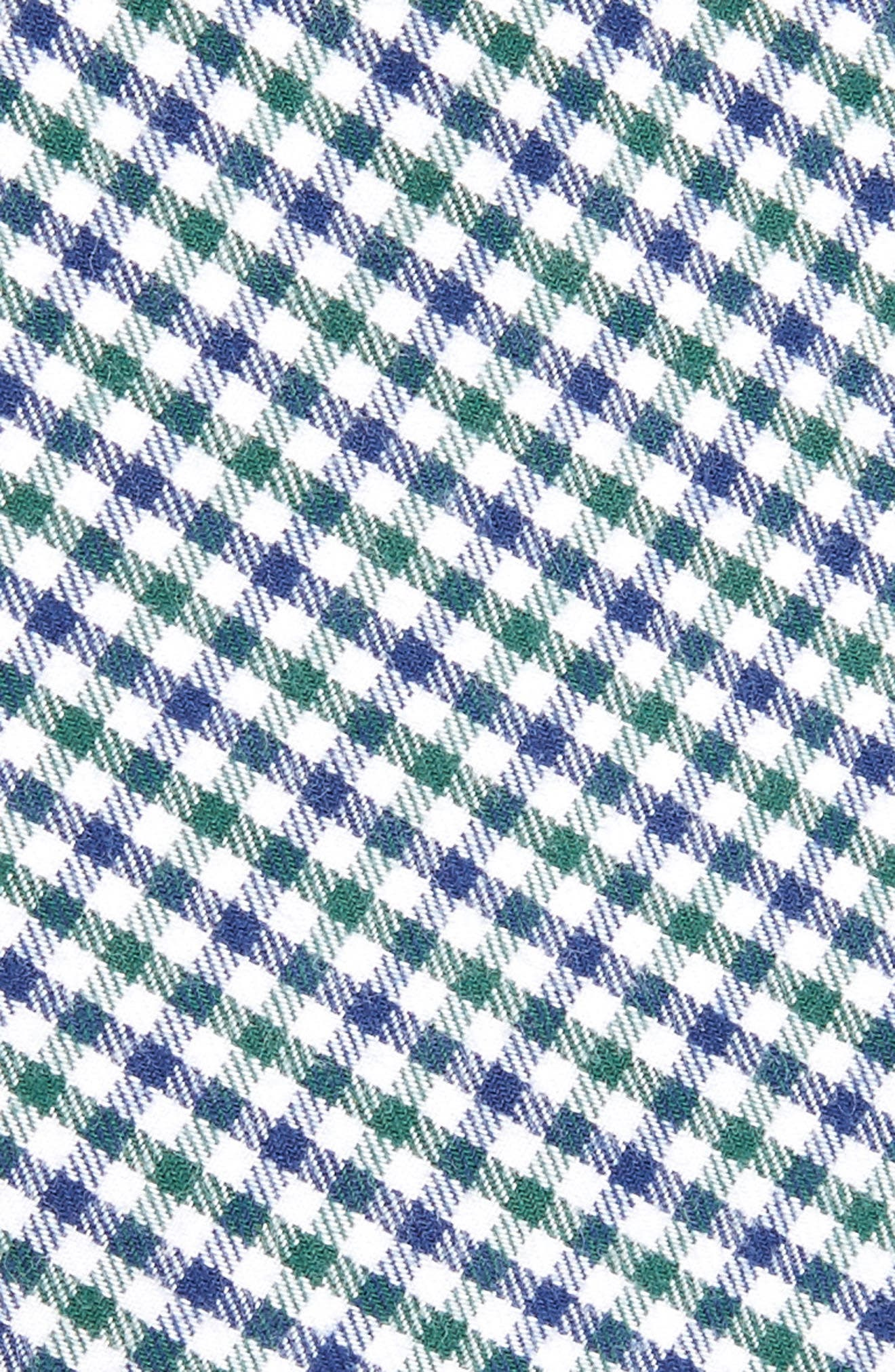 Plaid Cotton Tie,                             Alternate thumbnail 2, color,                             GREEN