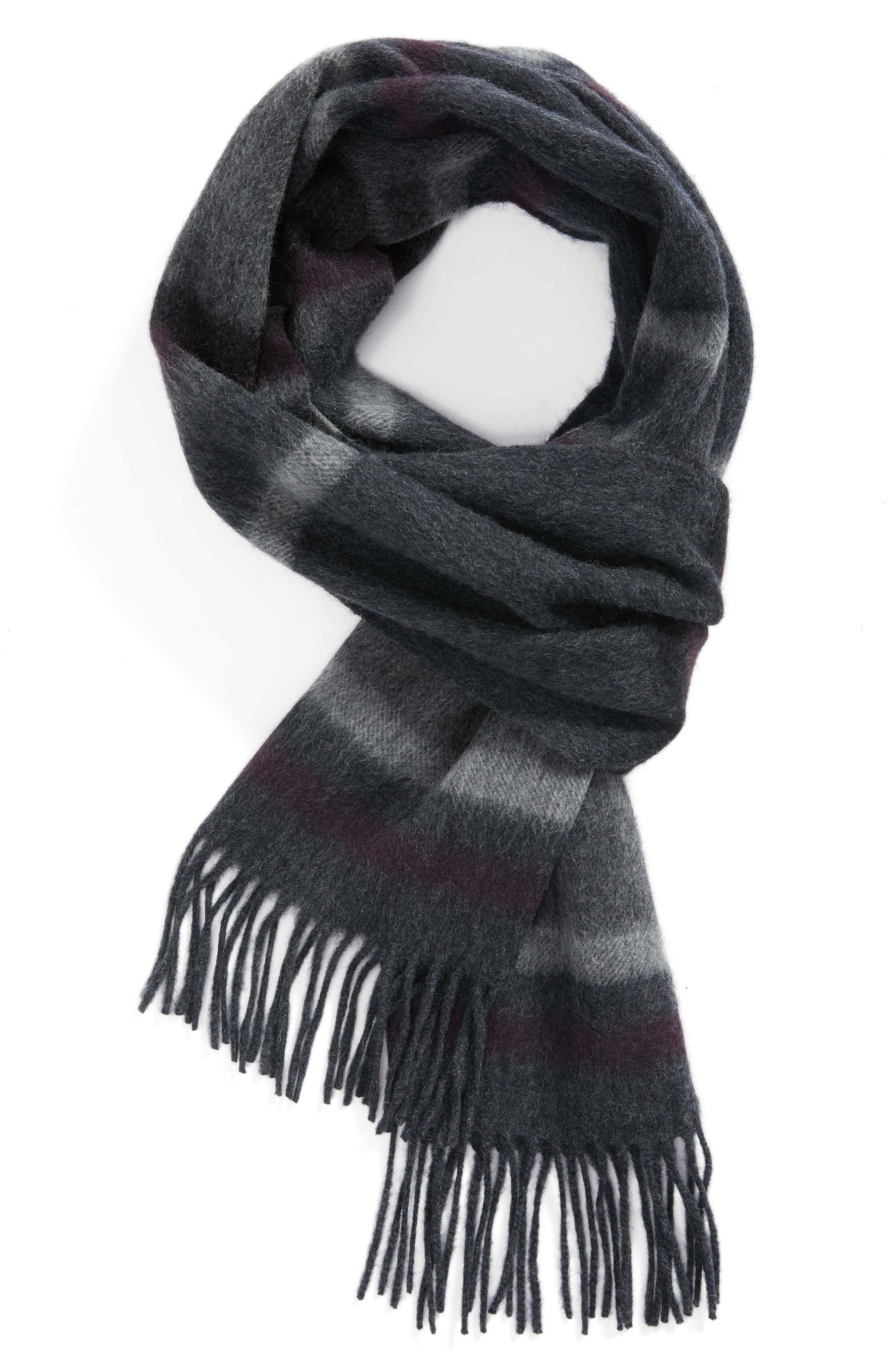 Multistripe Lambswool Scarf,                             Main thumbnail 2, color,
