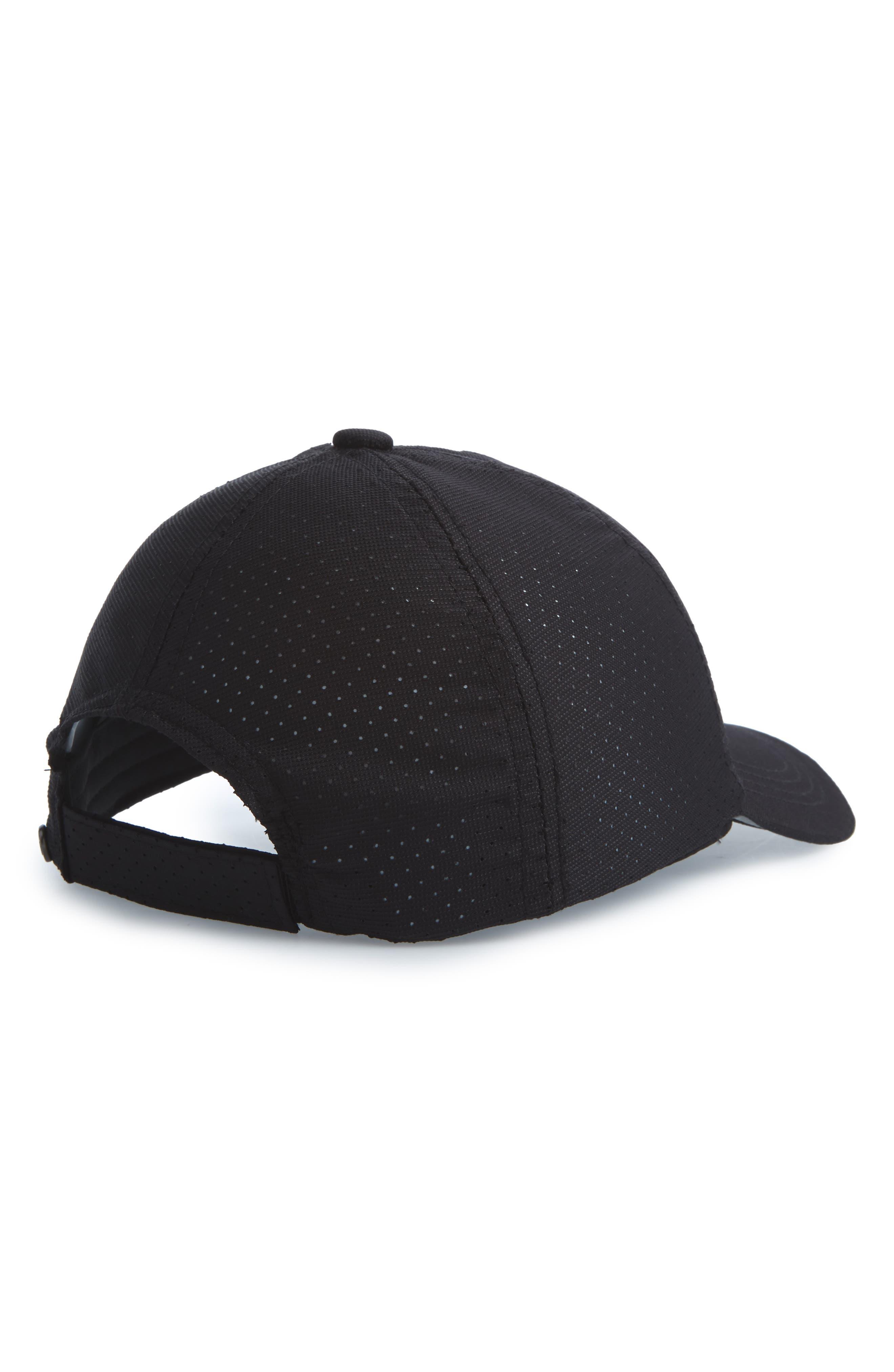 Perforated Run Hat,                             Alternate thumbnail 2, color,                             001