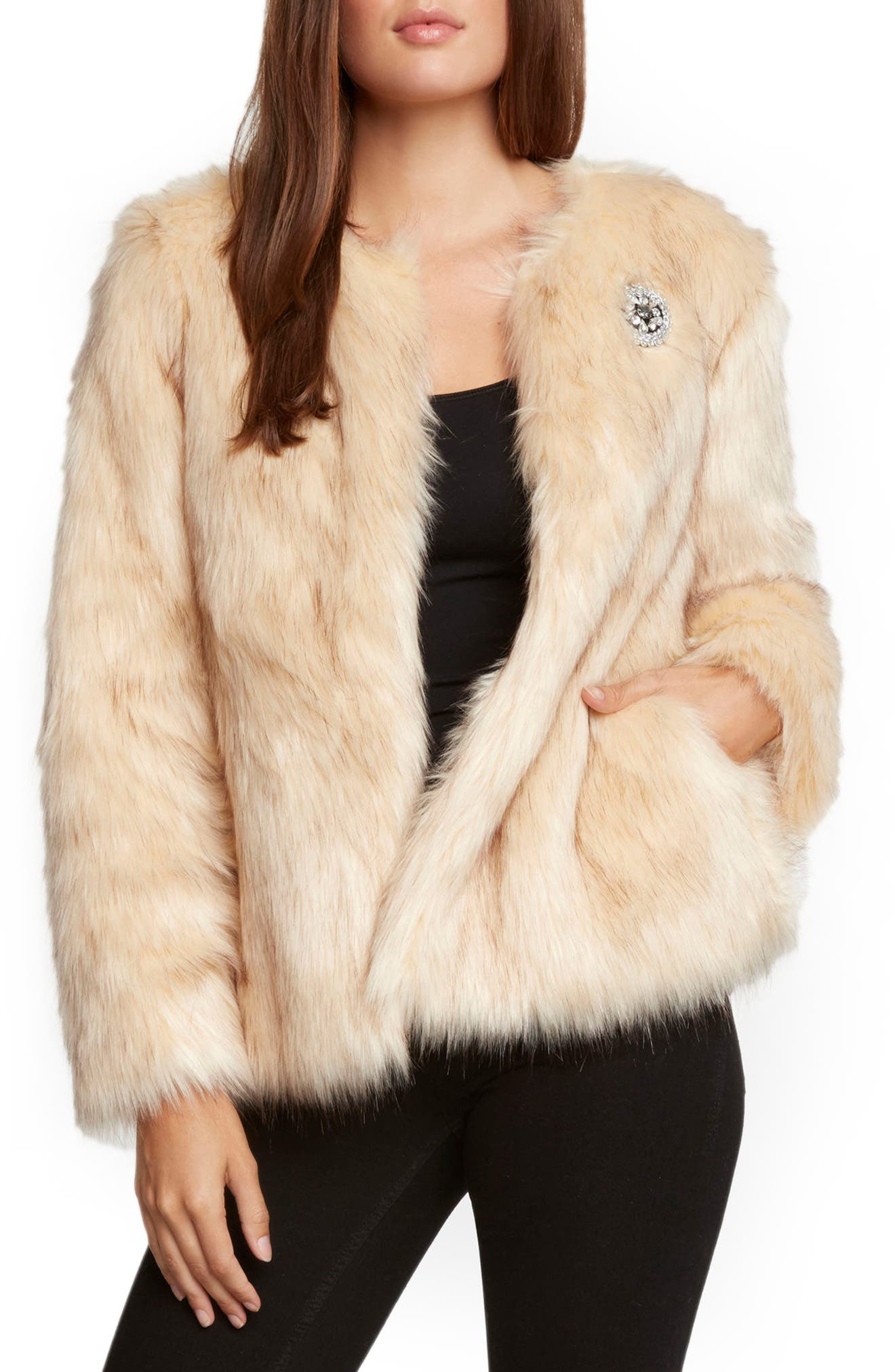 Faux Fur Jacket,                             Main thumbnail 1, color,